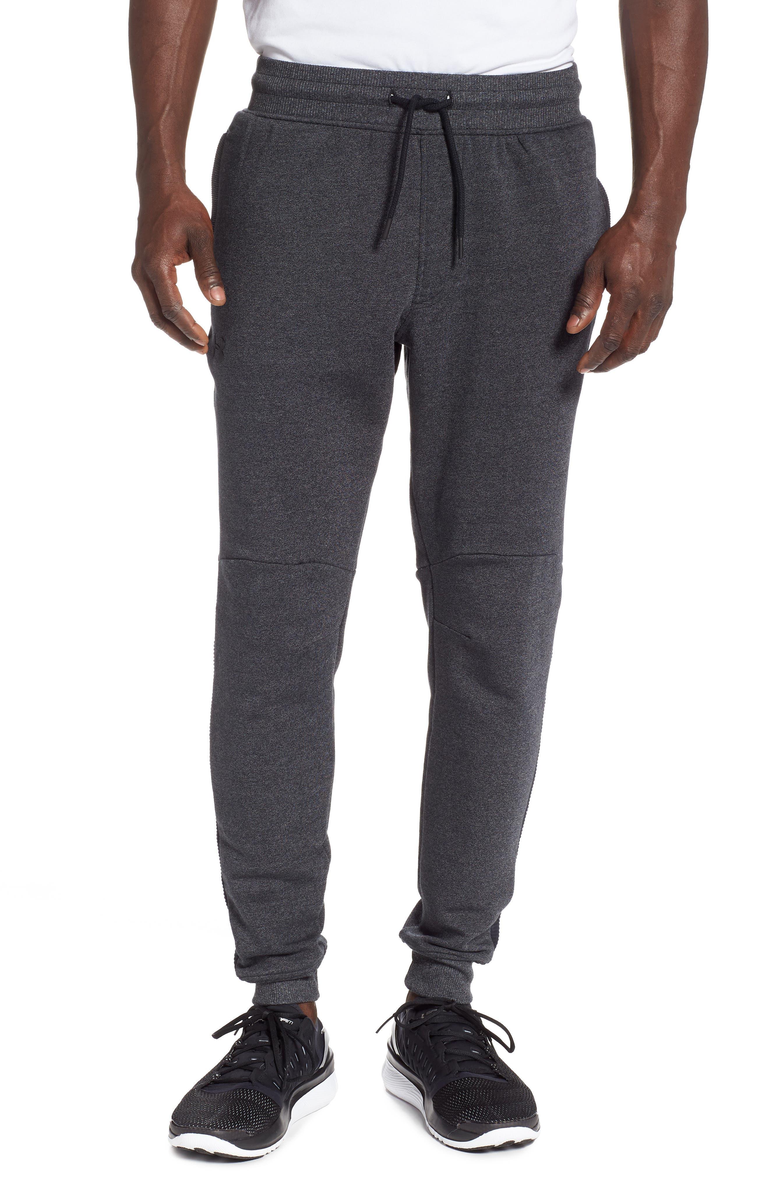 Threadborne Jogger Pants,                             Main thumbnail 1, color,                             BLACK/ BLACK