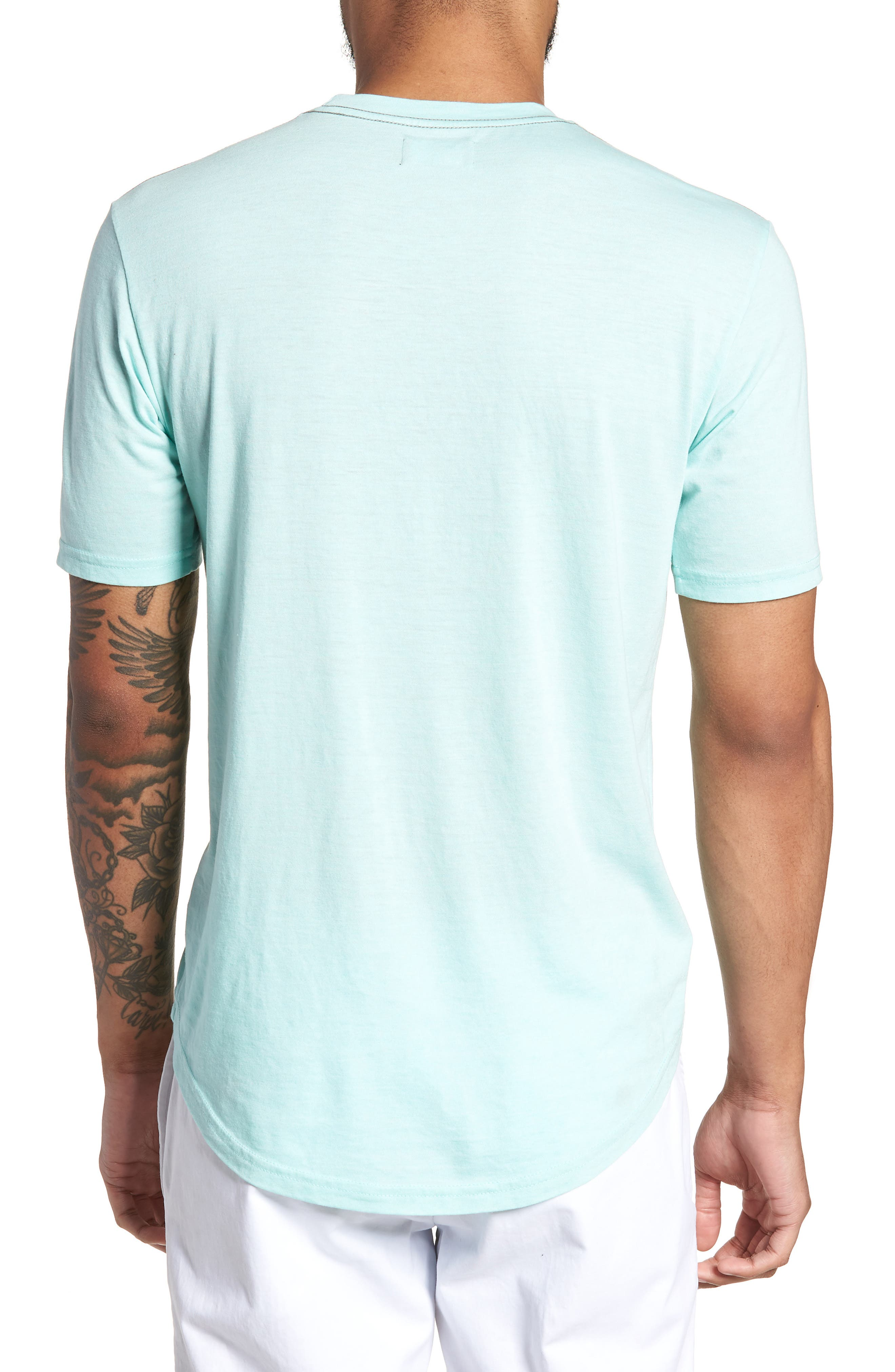 Scallop Triblend Crewneck T-Shirt,                             Alternate thumbnail 33, color,