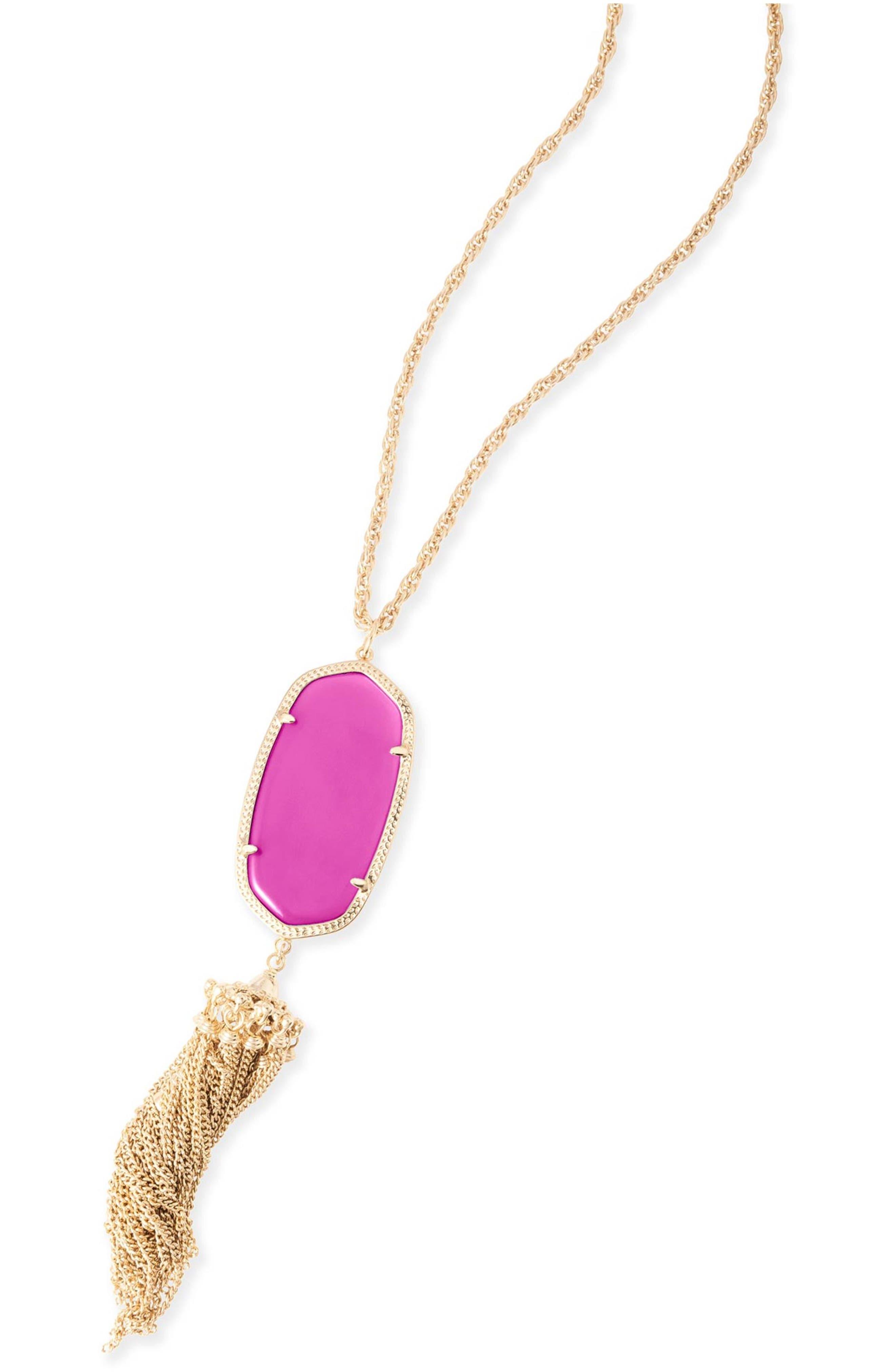 Rayne Stone Tassel Pendant Necklace,                             Alternate thumbnail 172, color,