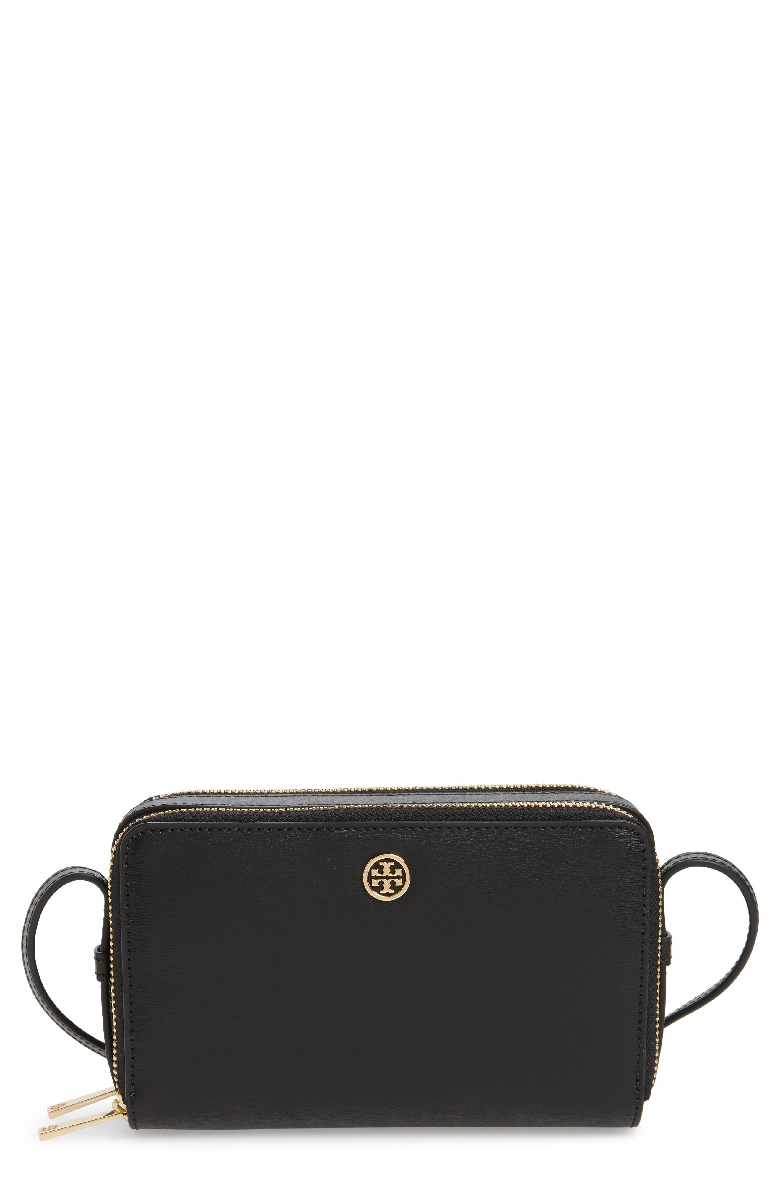 Mini Parker Leather Crossbody Bag,                             Main thumbnail 1, color,                             001