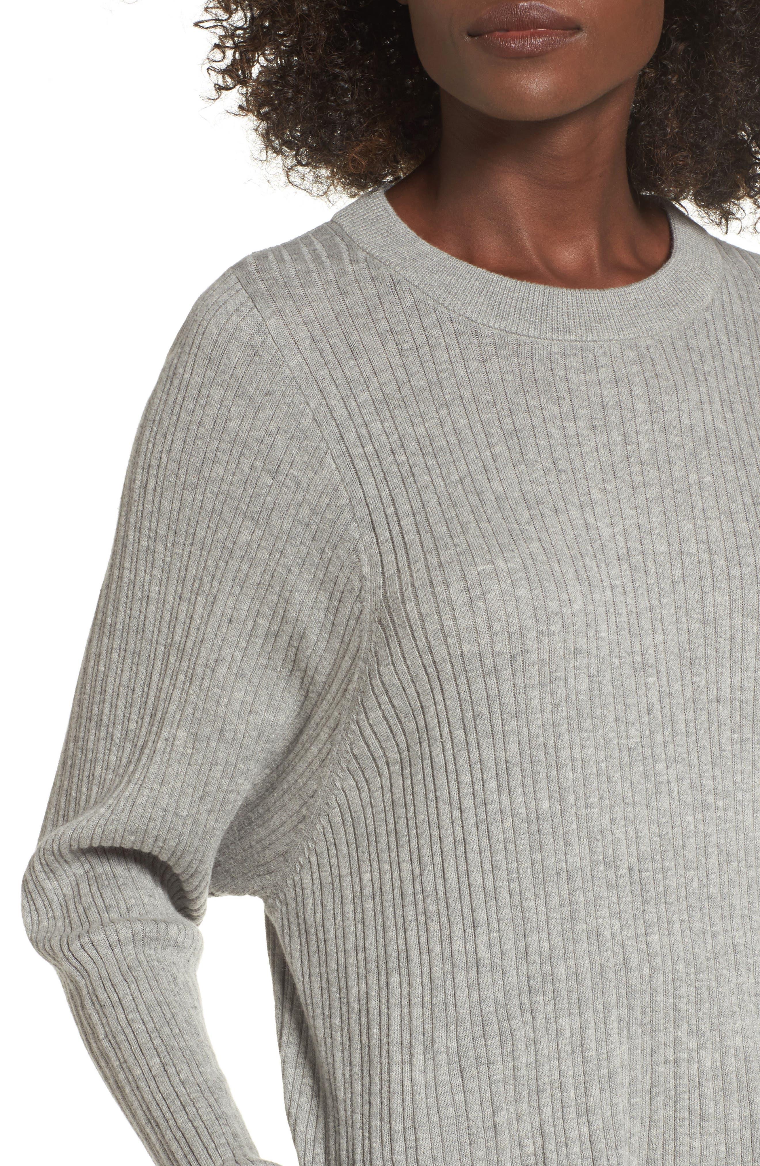 Crewneck Variegated Rib-Knit Sweater,                             Alternate thumbnail 11, color,