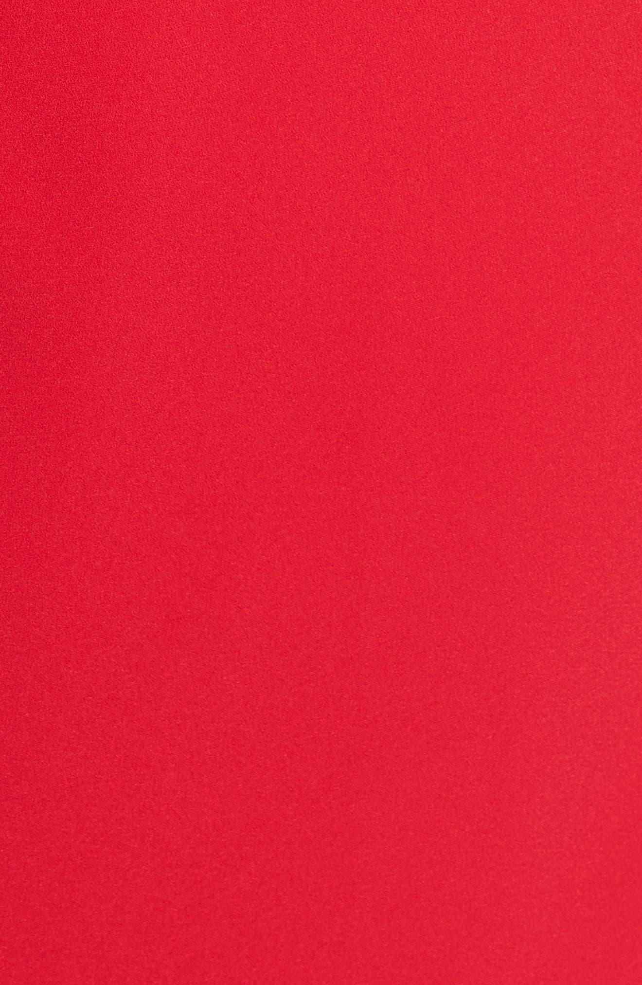 Asymmetrical Crepe Sheath,                             Alternate thumbnail 6, color,                             600