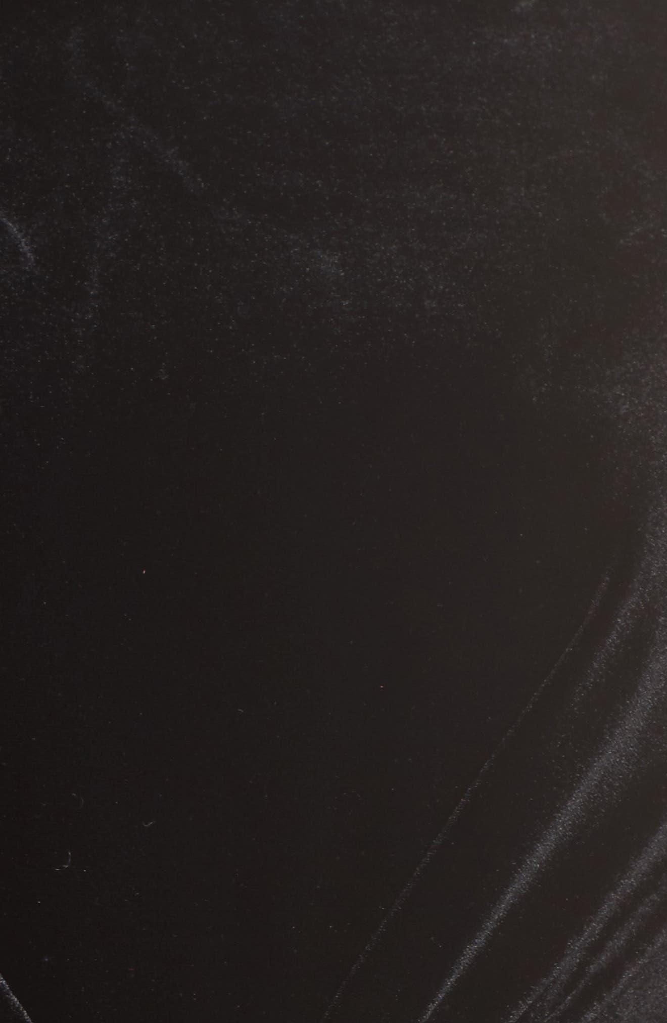 Reach Out Velvet Maxi Dress,                             Alternate thumbnail 5, color,                             001