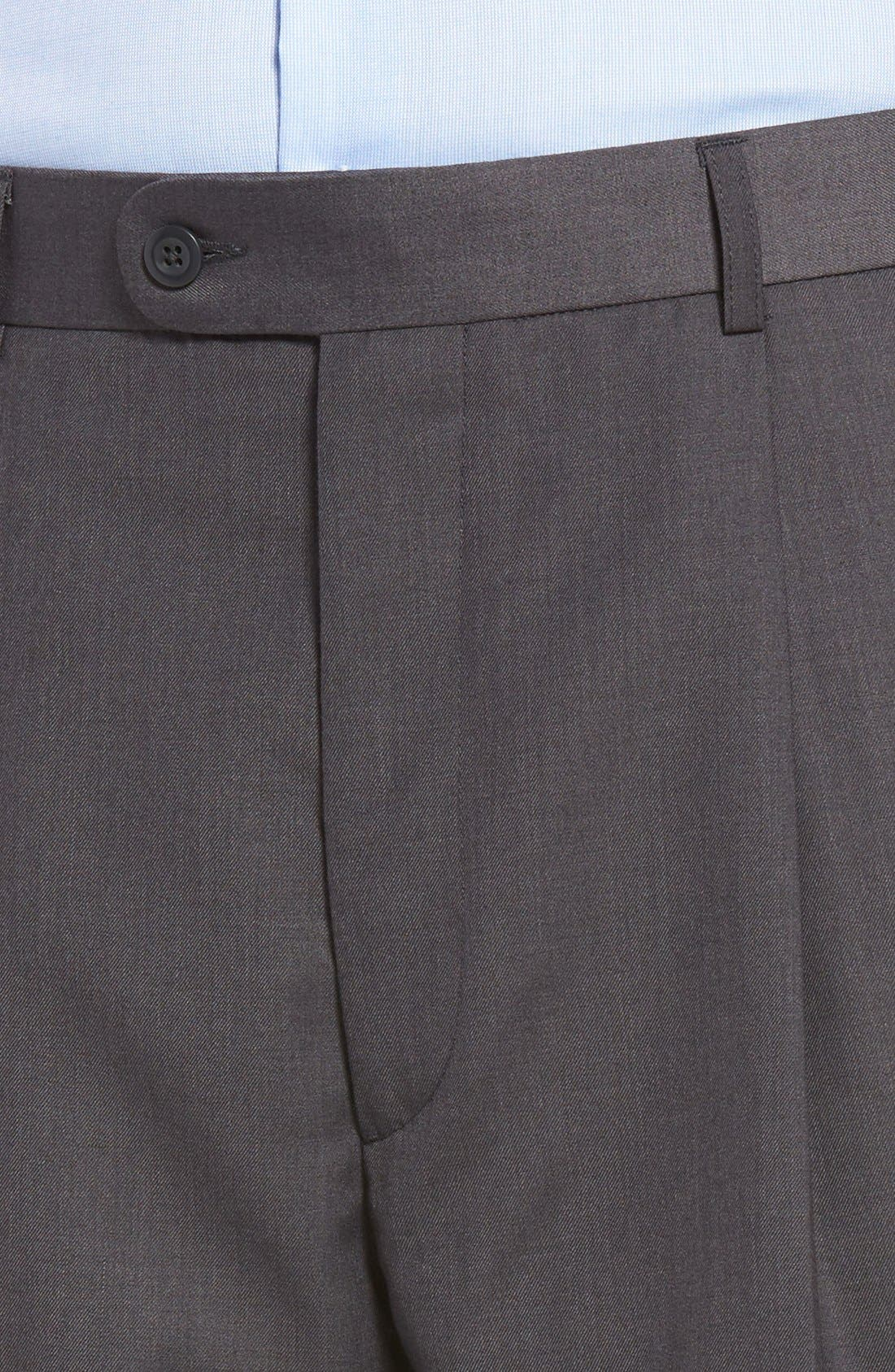 Pleated Microfiber Dress Pants,                             Alternate thumbnail 24, color,