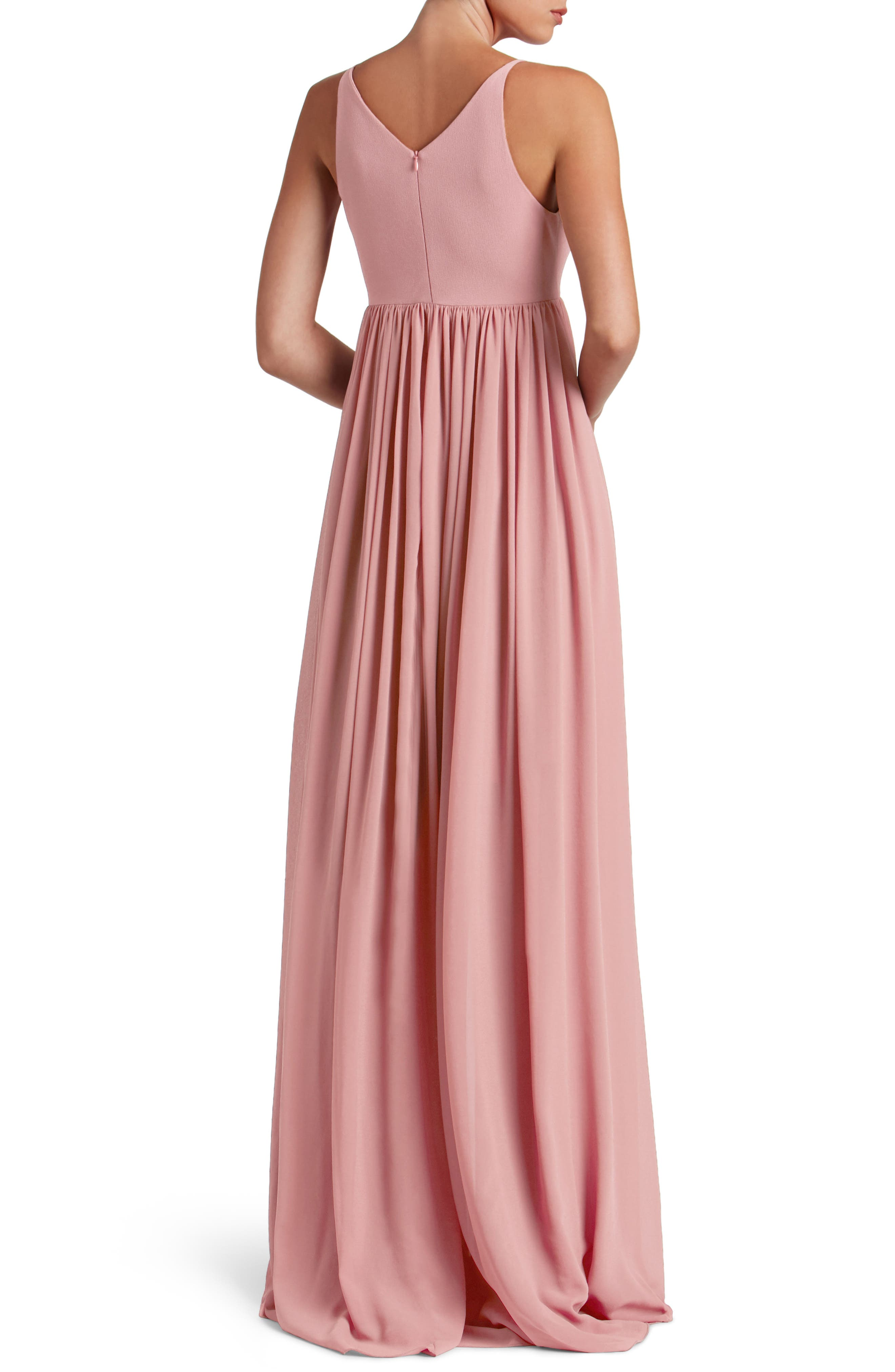 Phoebe Chiffon Gown,                             Alternate thumbnail 7, color,