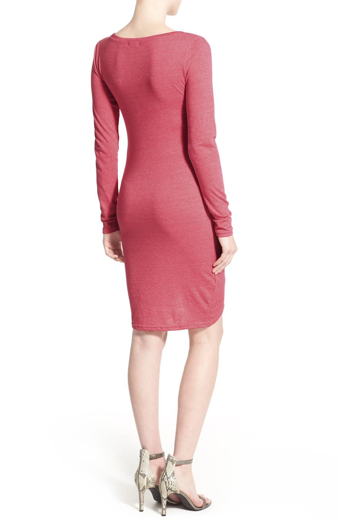 Ruched Long Sleeve Dress,                             Alternate thumbnail 48, color,
