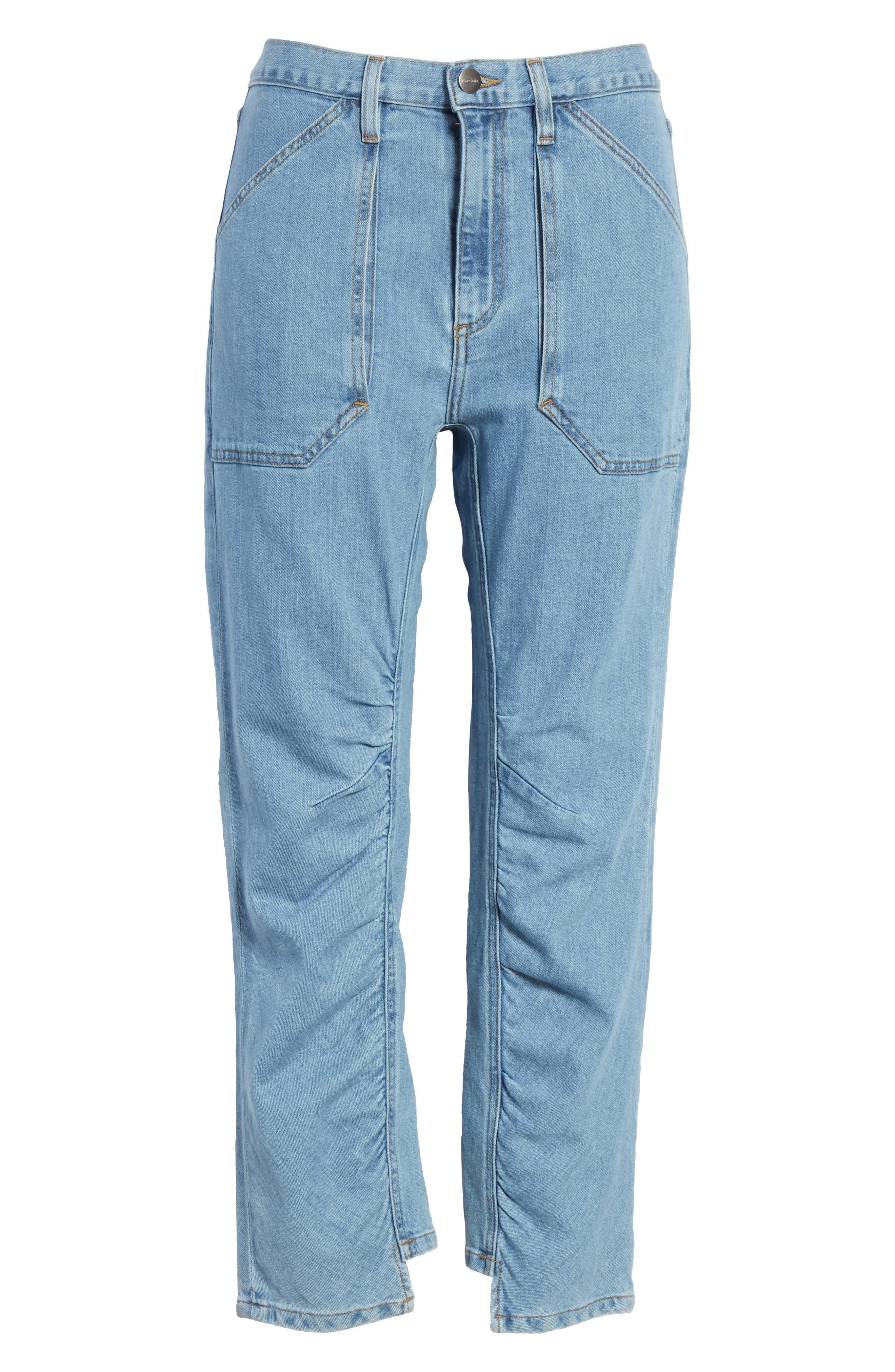Le Ruche Crop Jeans,                             Alternate thumbnail 6, color,                             421