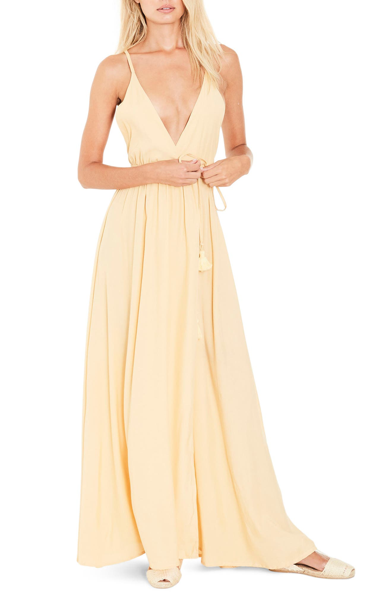 Santa Rose Strappy Maxi Dress,                         Main,                         color, 700