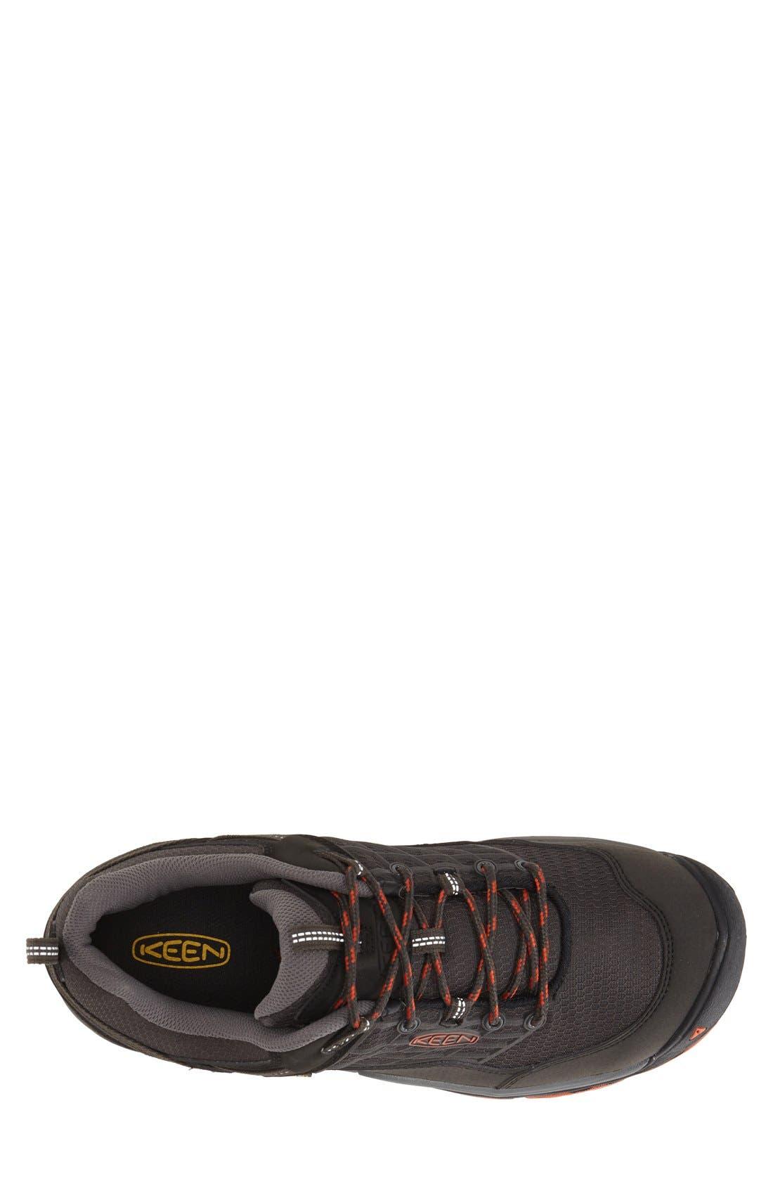 'Saltzman' Waterproof Walking Shoe,                             Alternate thumbnail 3, color,                             RAVEN/ KOI