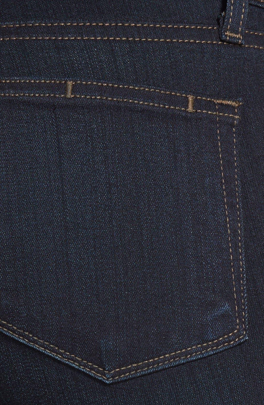 Transcend - Hoxton High Waist Straight Jeans,                             Alternate thumbnail 3, color,                             MONA