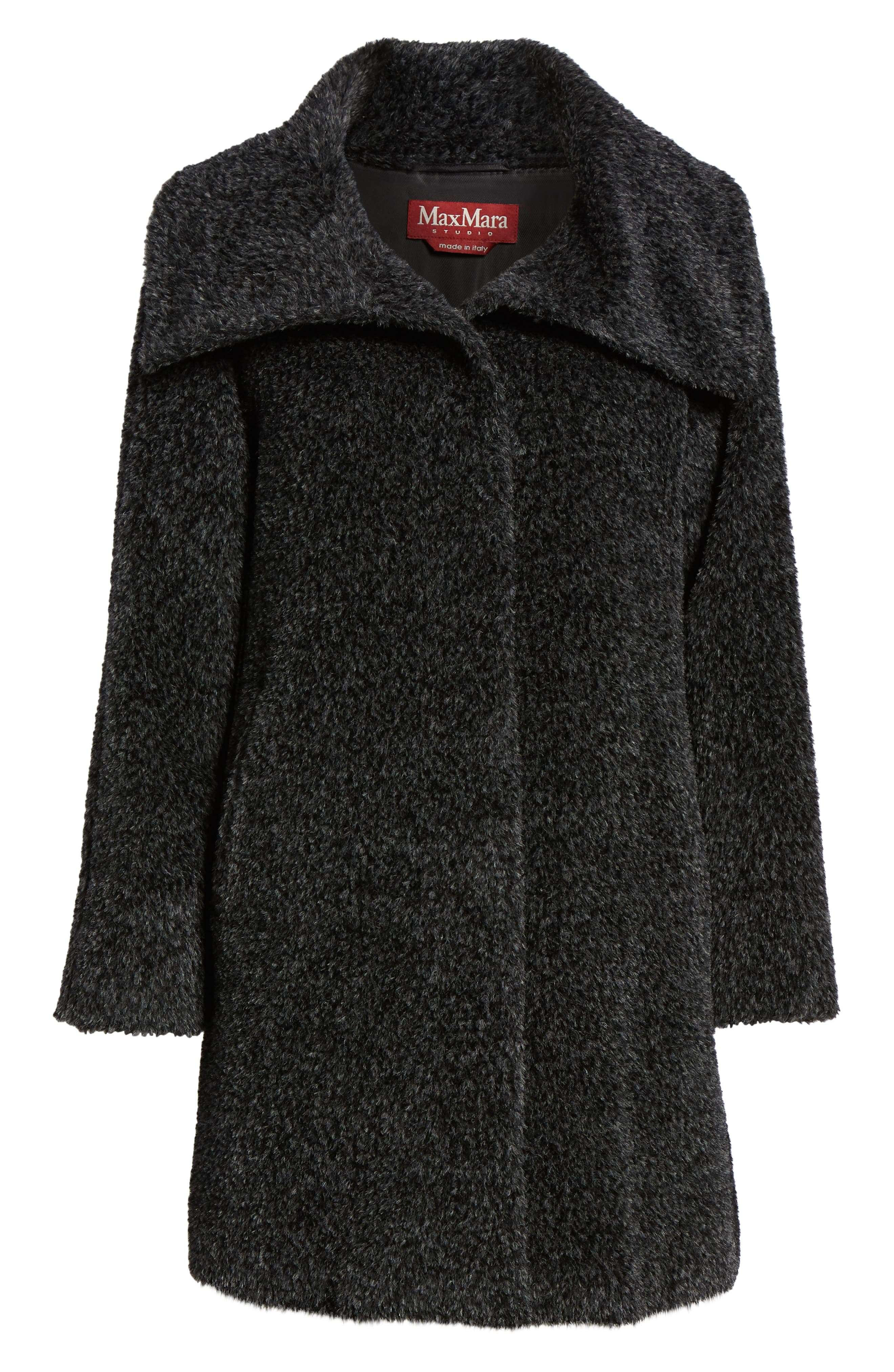 MAX MARA STUDIO,                             Gregory Alpaca & Wool Coat,                             Alternate thumbnail 6, color,                             023