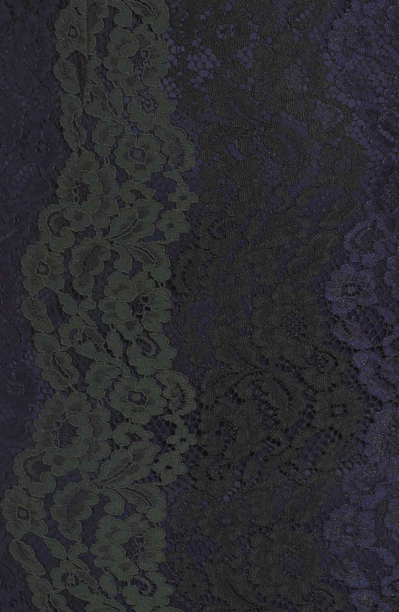 Colorblock Lace Sheath Lace,                             Alternate thumbnail 5, color,                             398