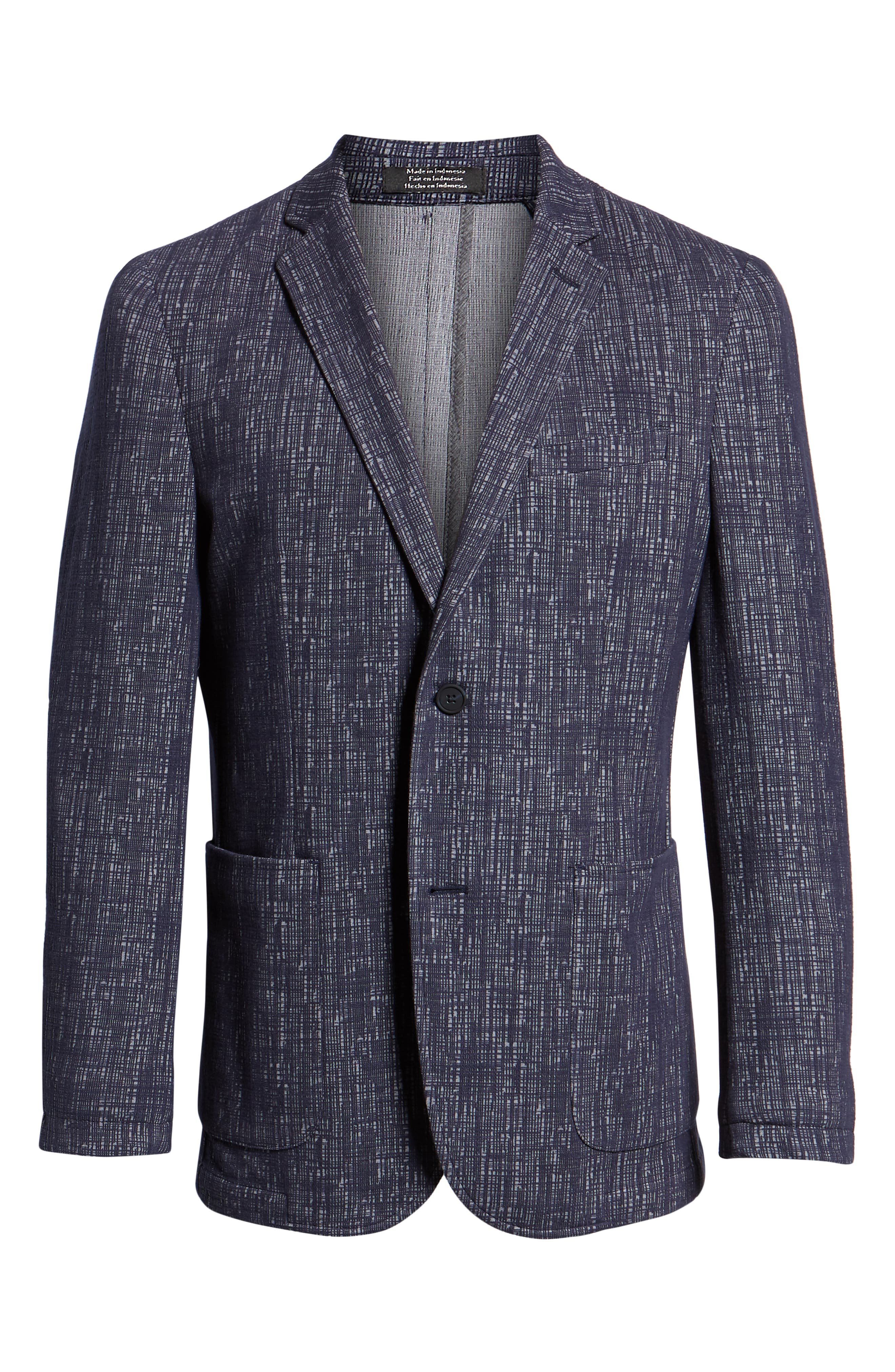 VINCE CAMUTO,                             Mesh Pattern Slim Fit Sport Coat,                             Alternate thumbnail 5, color,                             BLUE