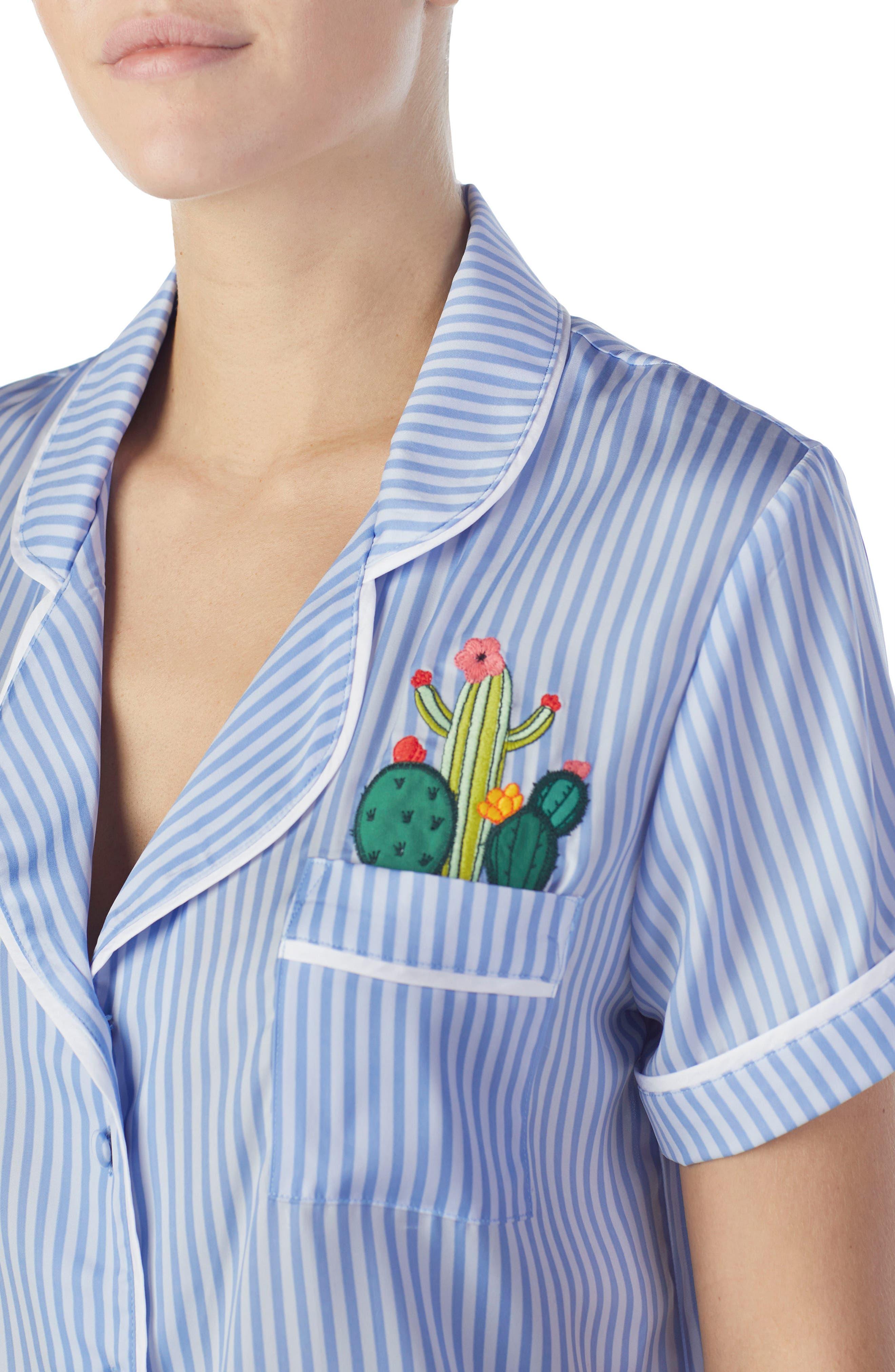 Short Satin Pajamas,                             Alternate thumbnail 10, color,