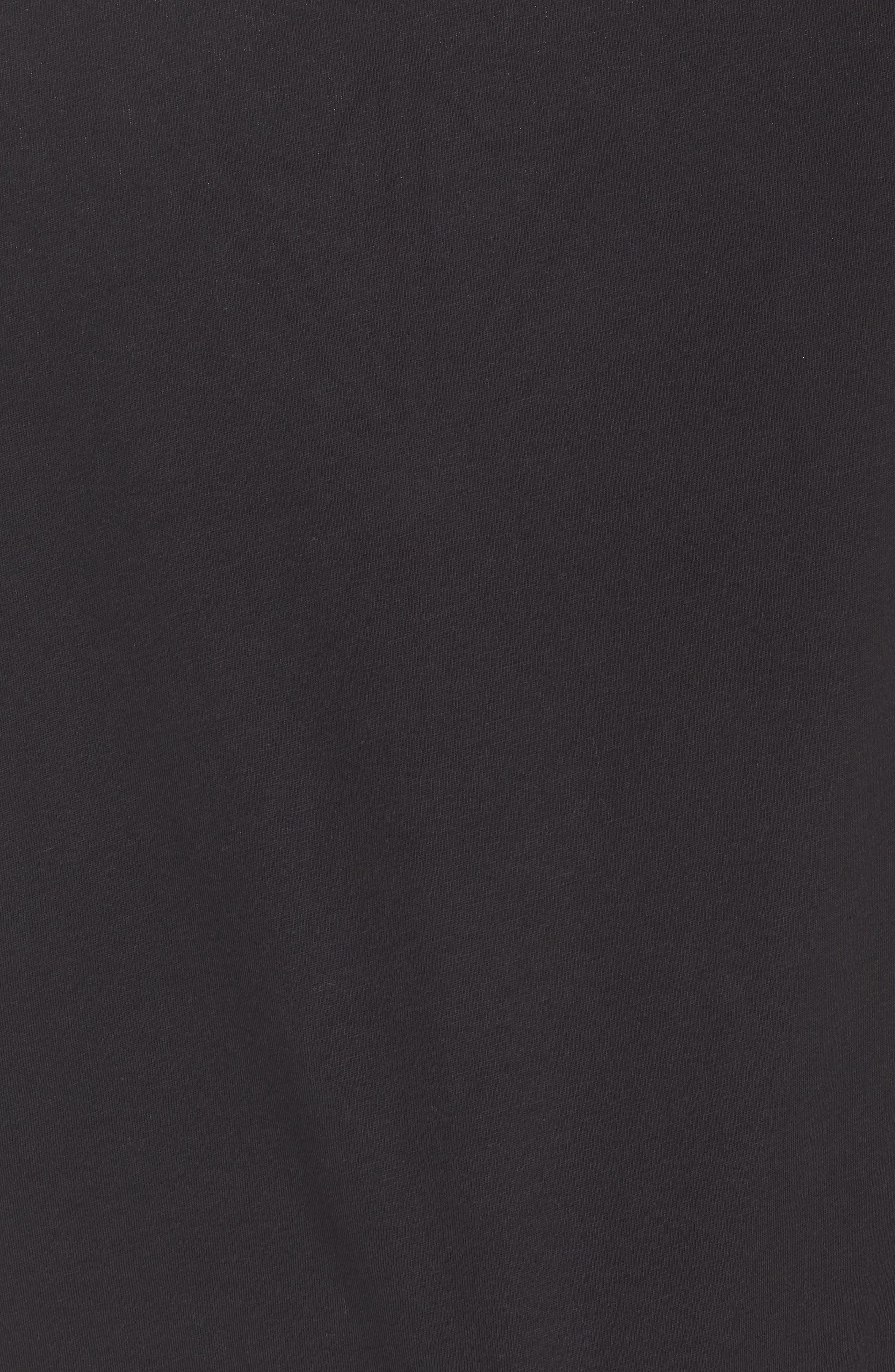 Starcrest Logo Cotton Tee,                             Alternate thumbnail 5, color,                             BLACK