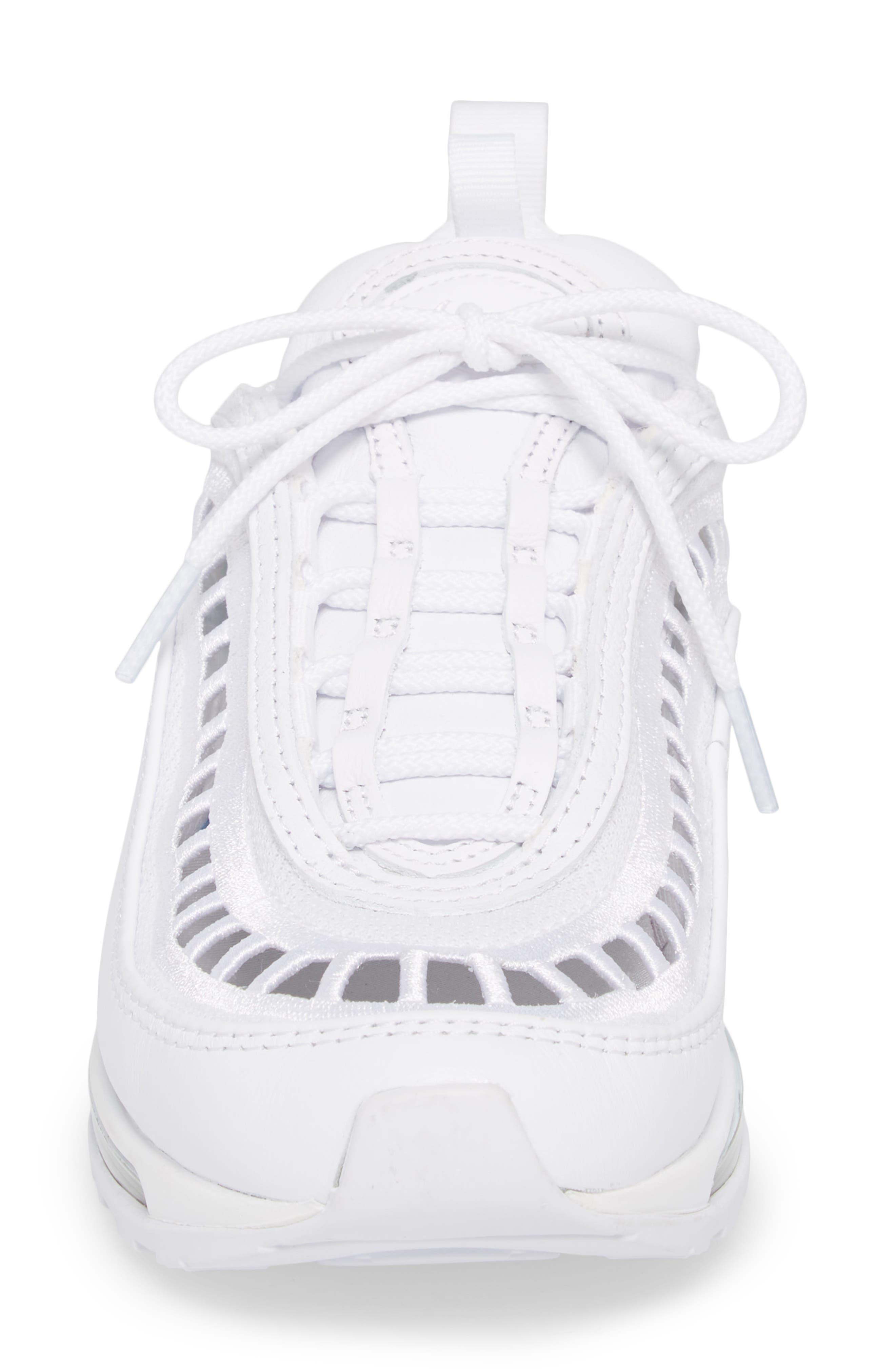 Air Max 97 Ultra '17 SI Sneaker,                             Alternate thumbnail 4, color,                             WHITE/ WHITE/ VAST GREY