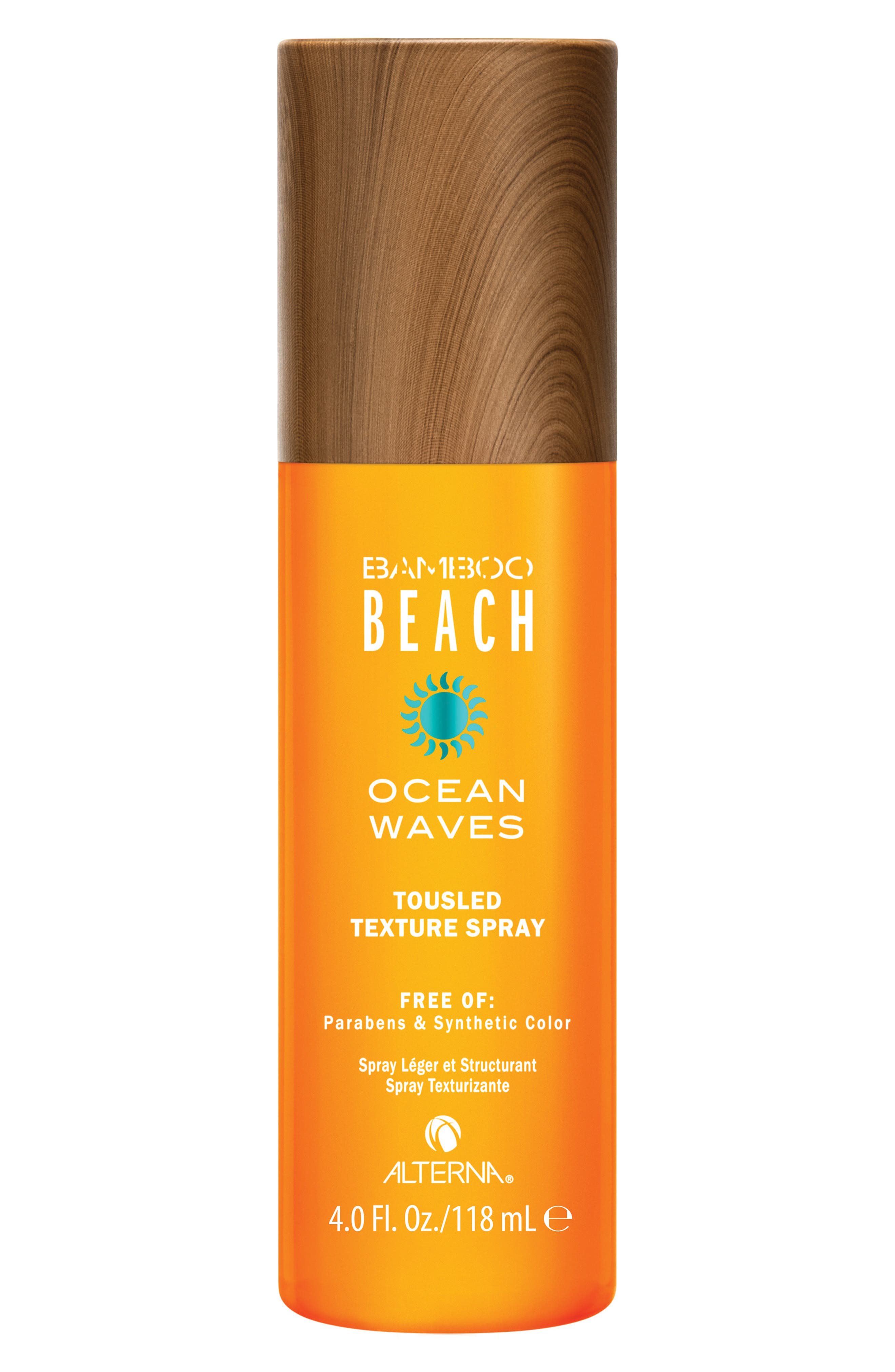 Bamboo Beach Ocean Waves Touseled Texture Spray,                             Main thumbnail 1, color,                             000