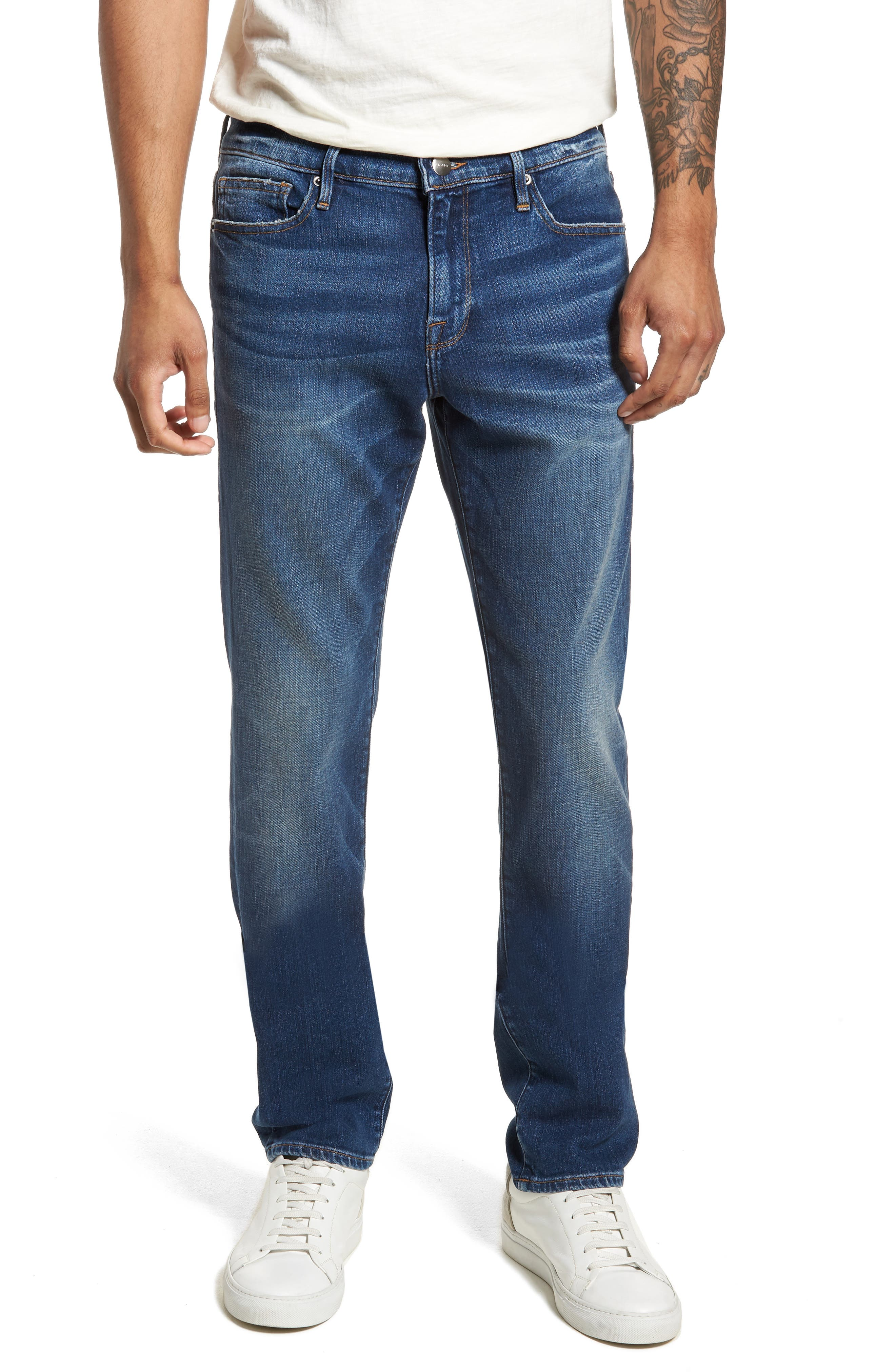 L'Homme Skinny Fit Jeans,                             Main thumbnail 1, color,                             420