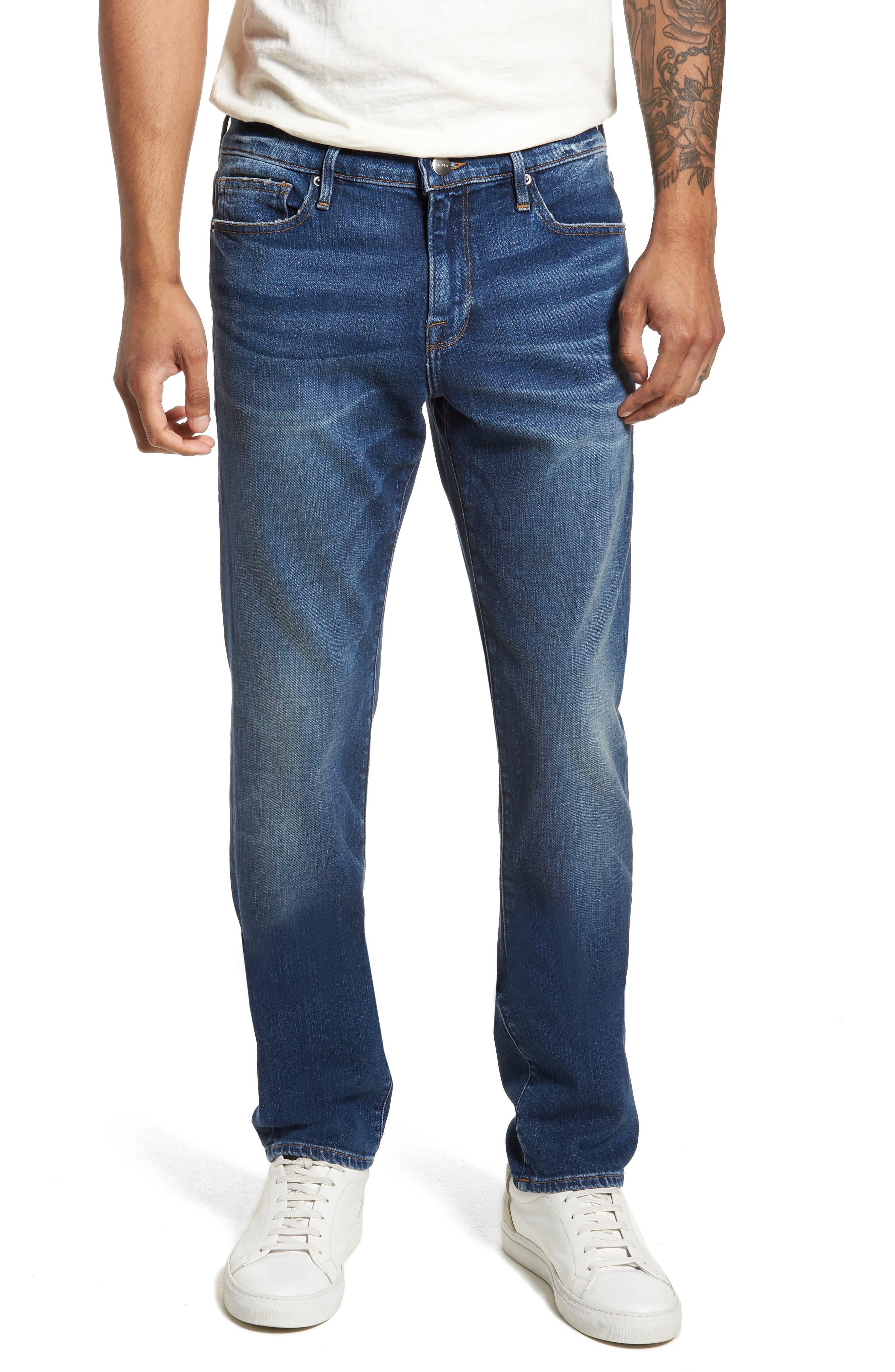 L'Homme Skinny Fit Jeans,                         Main,                         color, 420