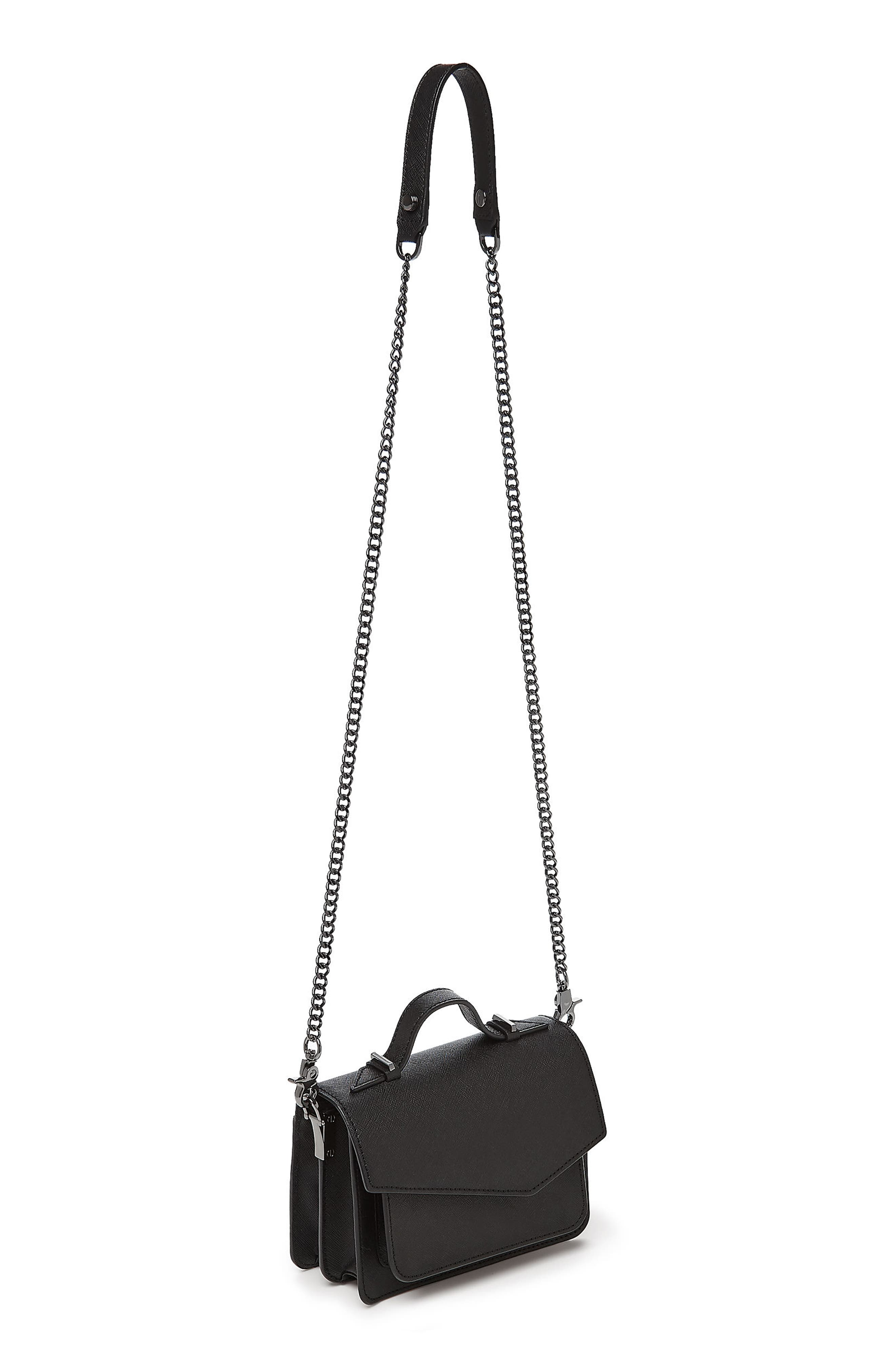 Mini Cobble Hill Calfskin Leather Crossbody Bag,                             Alternate thumbnail 2, color,                             001