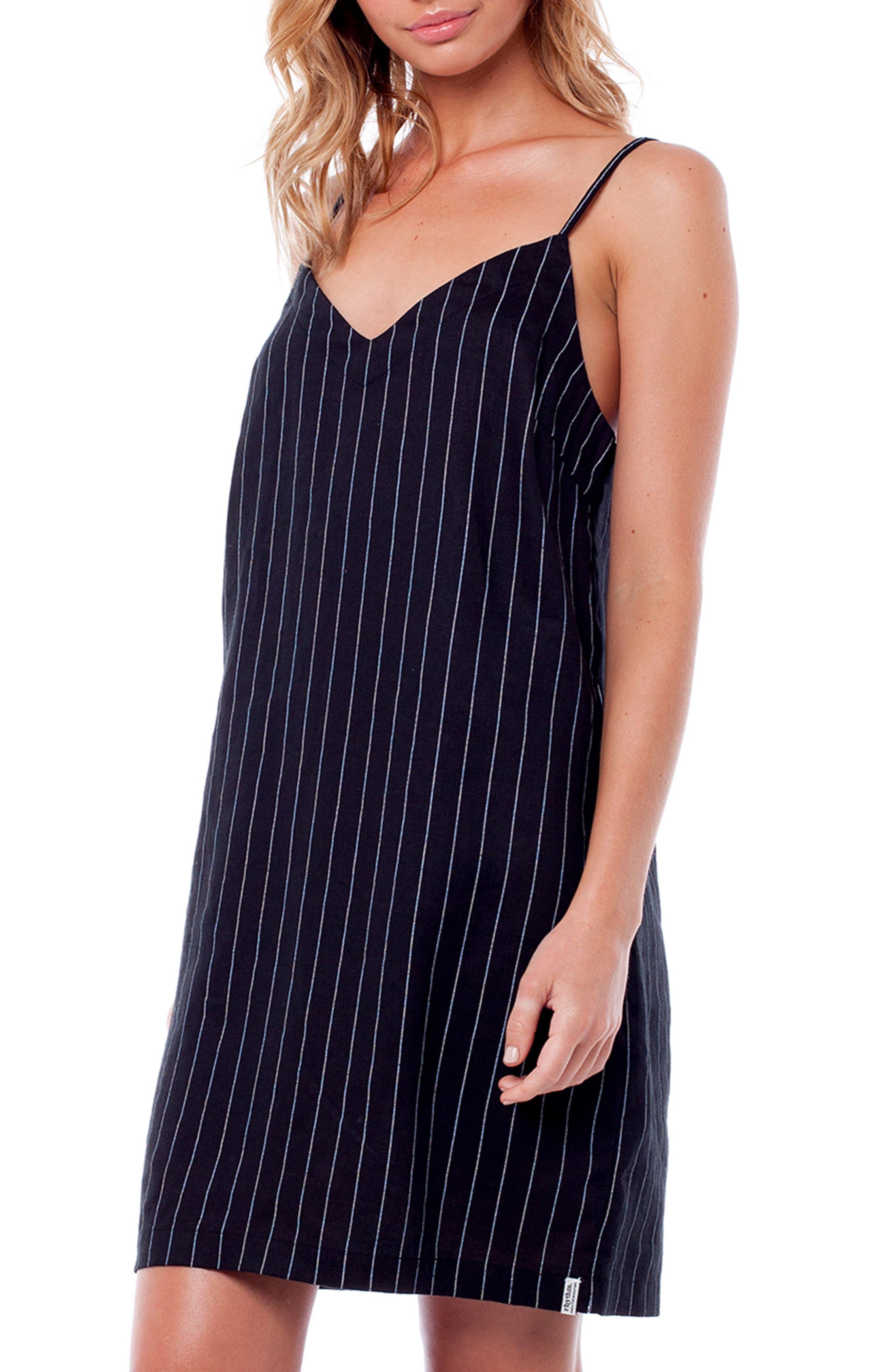 Catalina Cover-Up Dress,                             Alternate thumbnail 3, color,                             BLACK