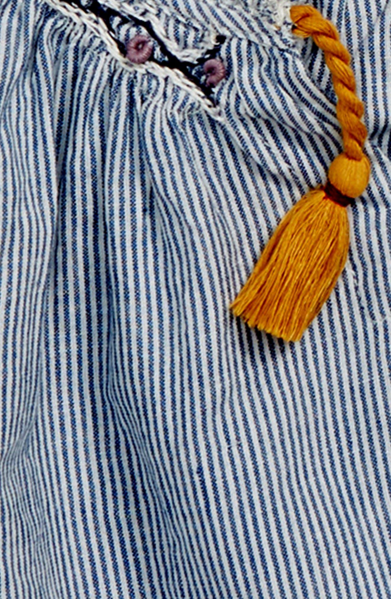Bailey Tassel Stripe Top,                             Alternate thumbnail 2, color,                             NAVY