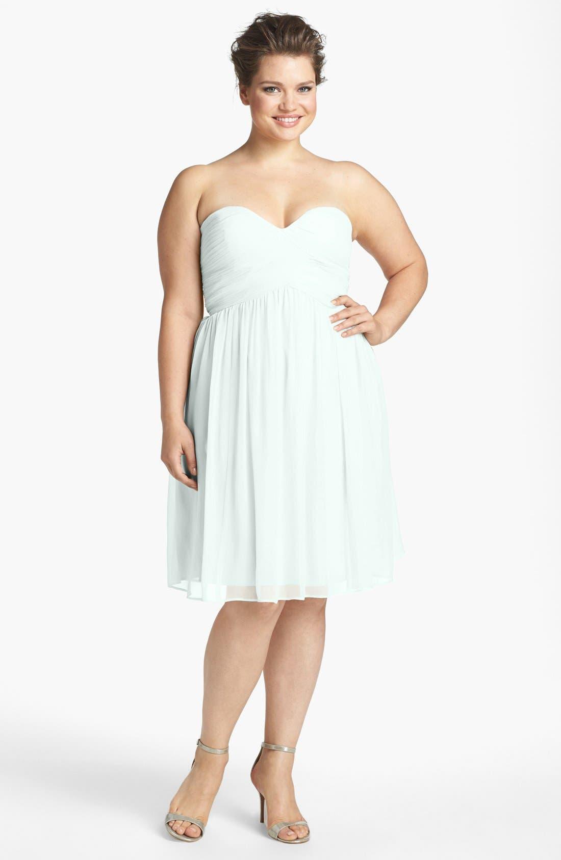 'Morgan' Strapless Silk Chiffon Dress,                             Alternate thumbnail 105, color,