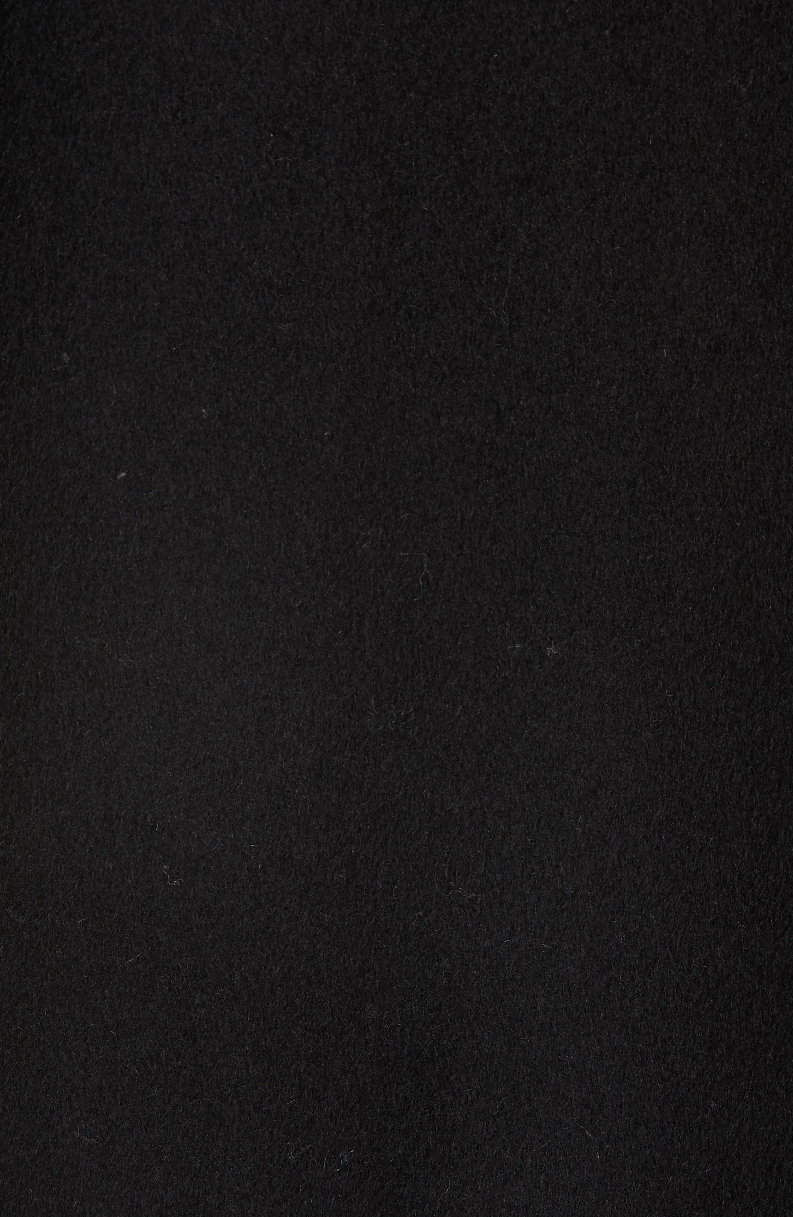 VINCE,                             Hooded Coat,                             Alternate thumbnail 6, color,                             BLACK