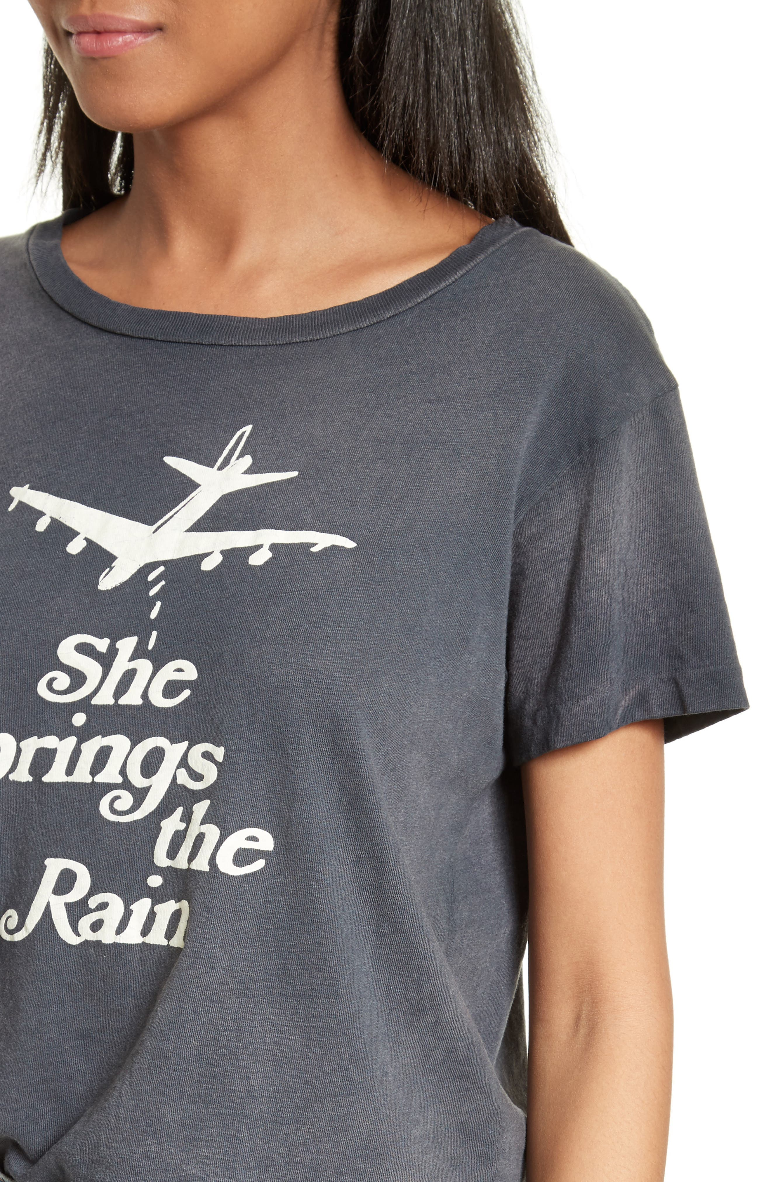 She Brings the Rain Graphic Tee,                             Alternate thumbnail 4, color,                             001