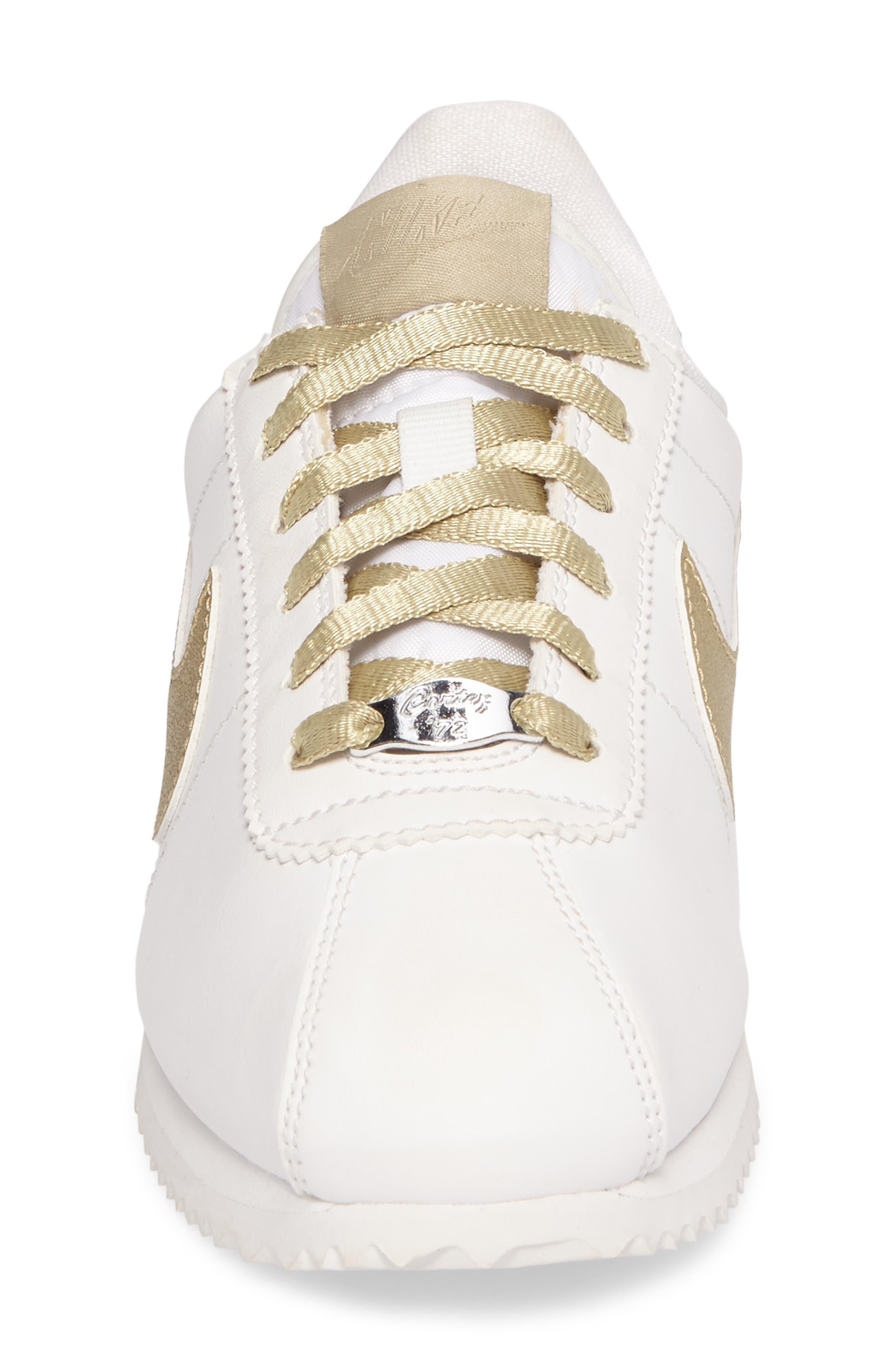 Cortez Basic SE Sneaker,                             Alternate thumbnail 4, color,                             101