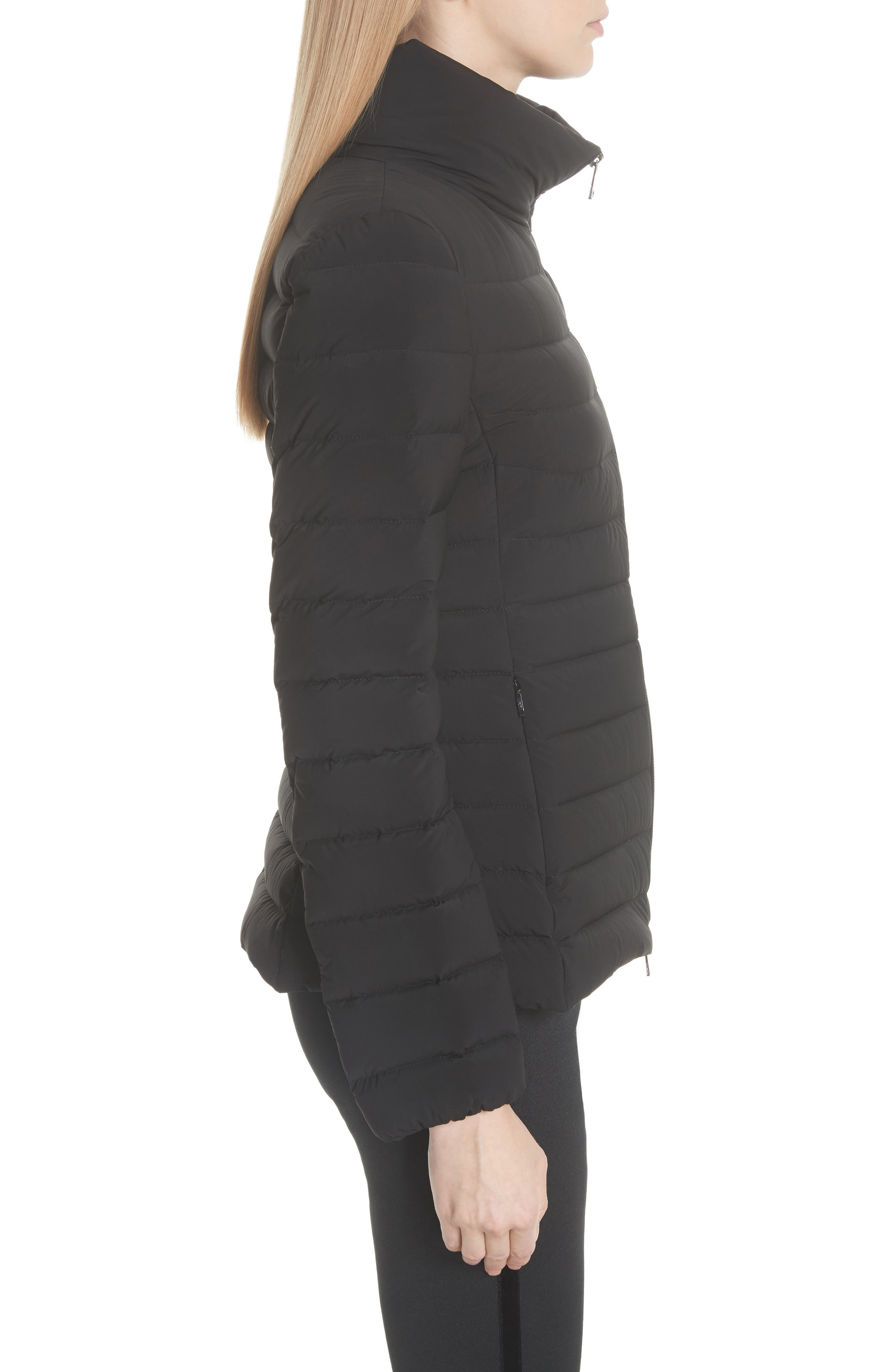 Guillemot Quilted Down Jacket,                             Alternate thumbnail 3, color,                             BLACK