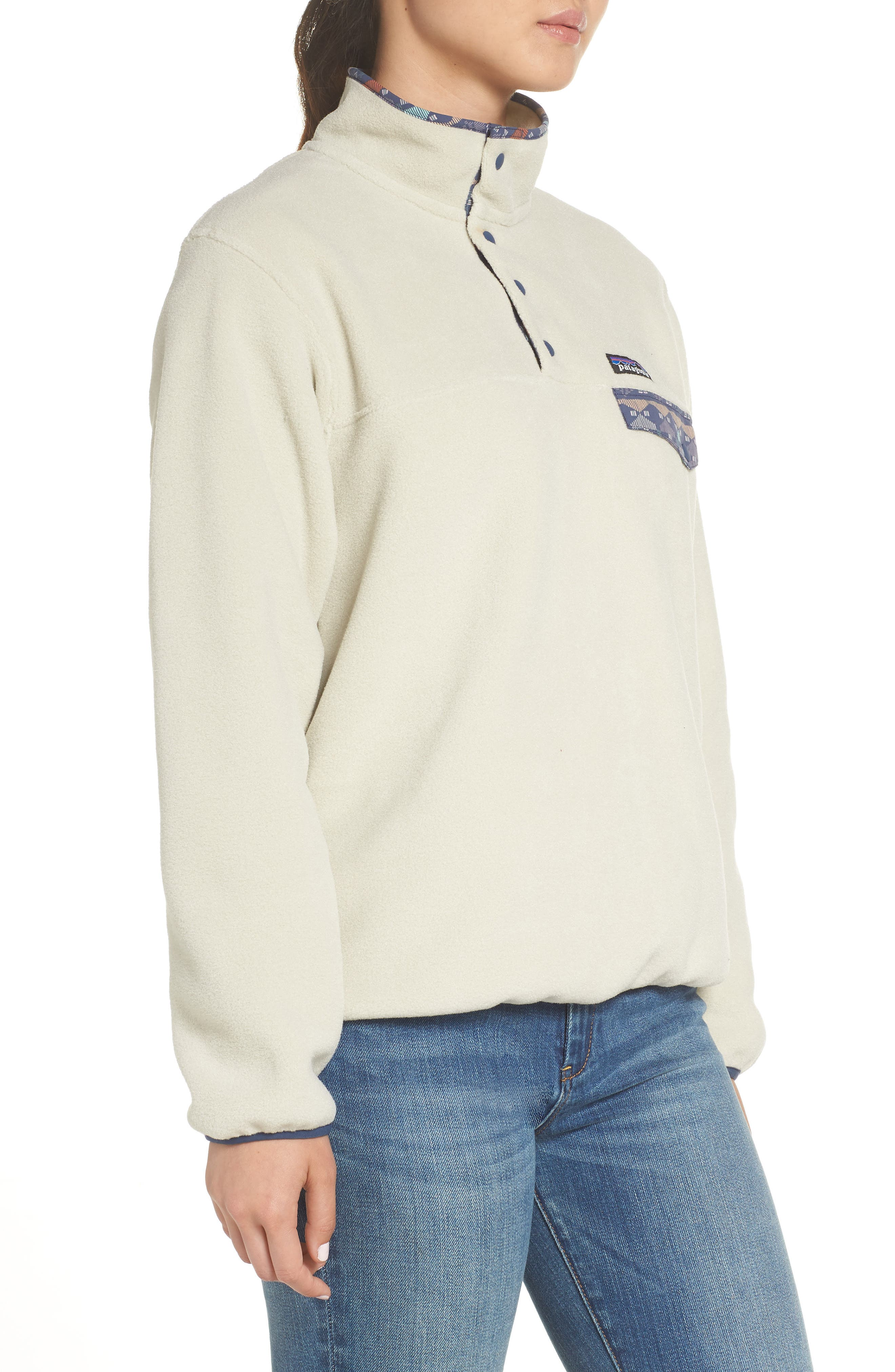 Synchilla Snap-T<sup>®</sup> Fleece Pullover,                             Alternate thumbnail 3, color,                             PELICAN W/ STONE BLUE