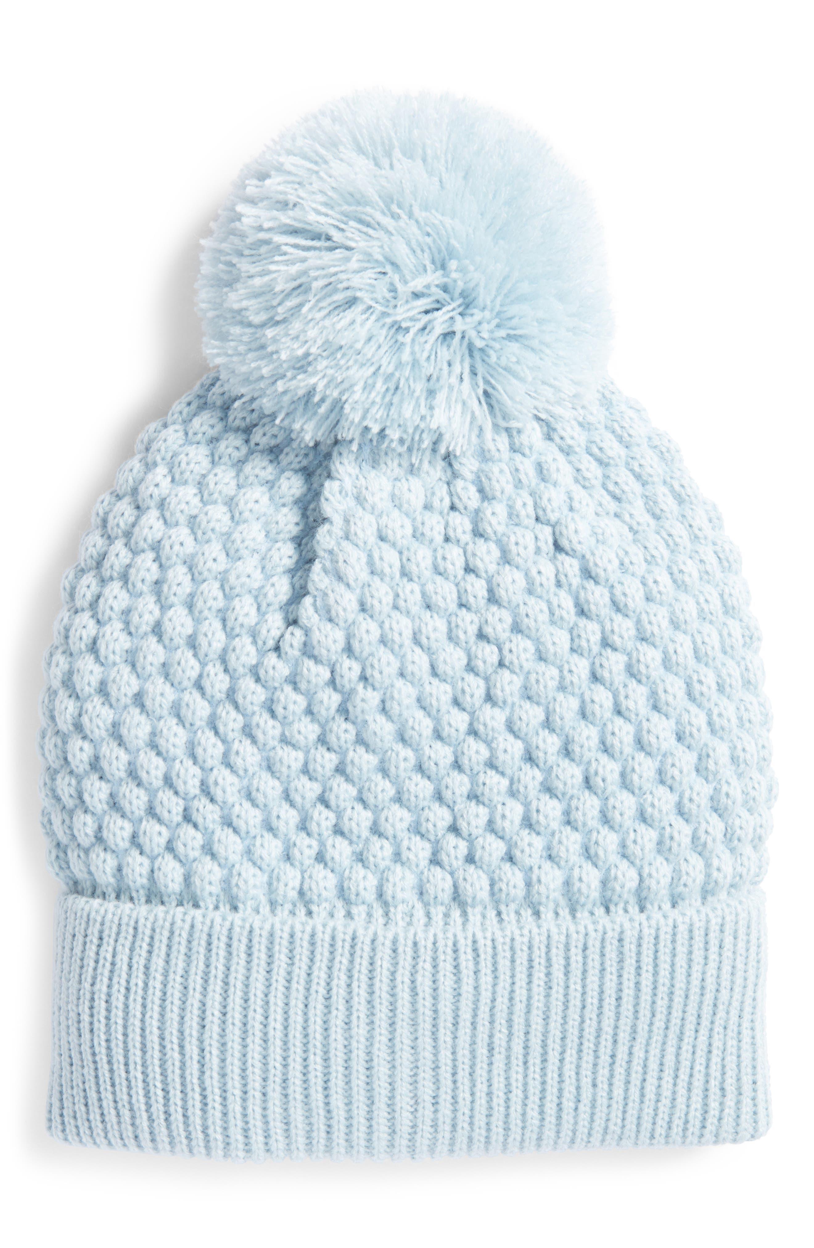 Popcorn Knit Pom Beanie,                             Main thumbnail 1, color,                             400