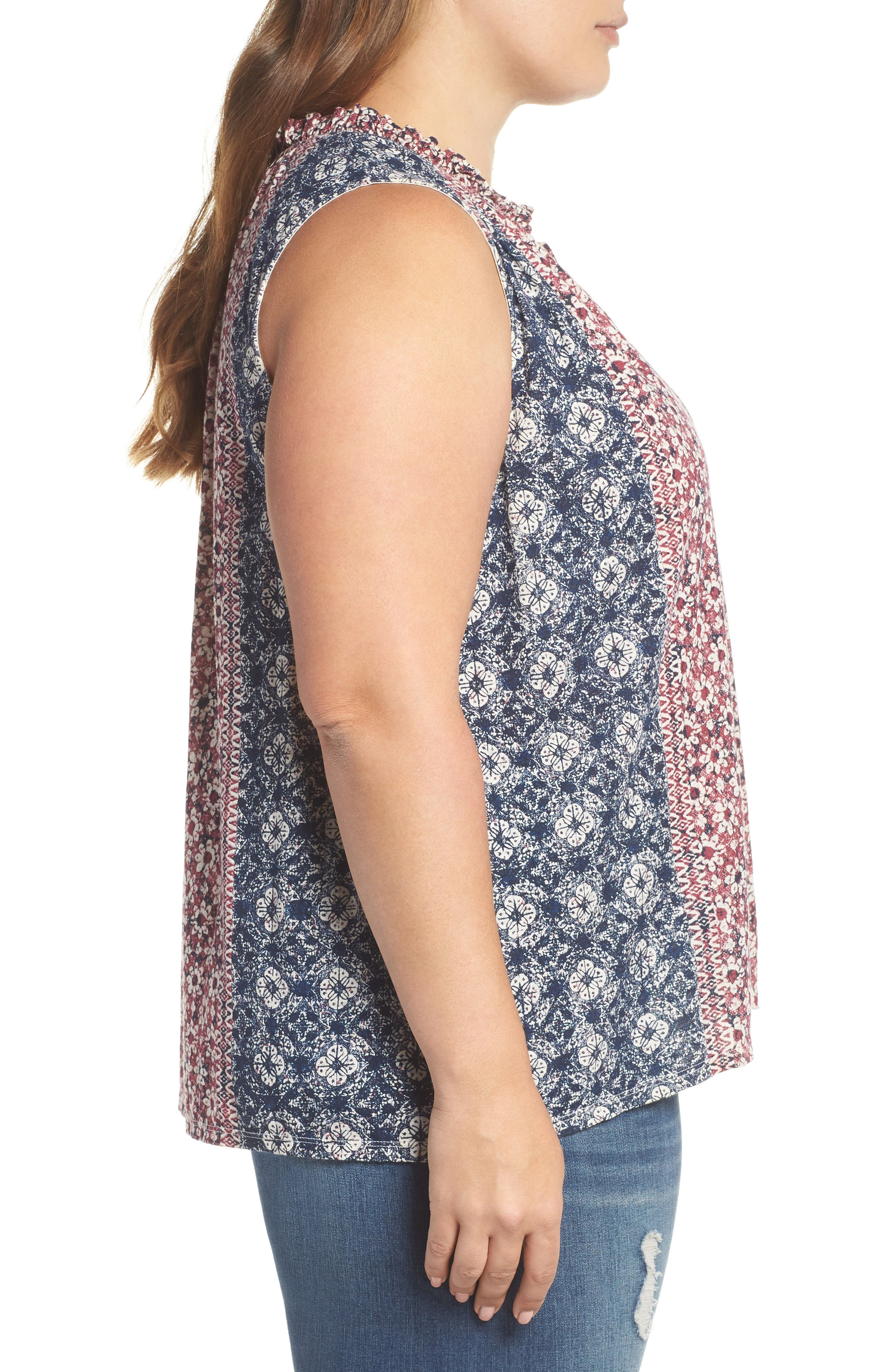 Geo Print Tank,                             Alternate thumbnail 3, color,                             659