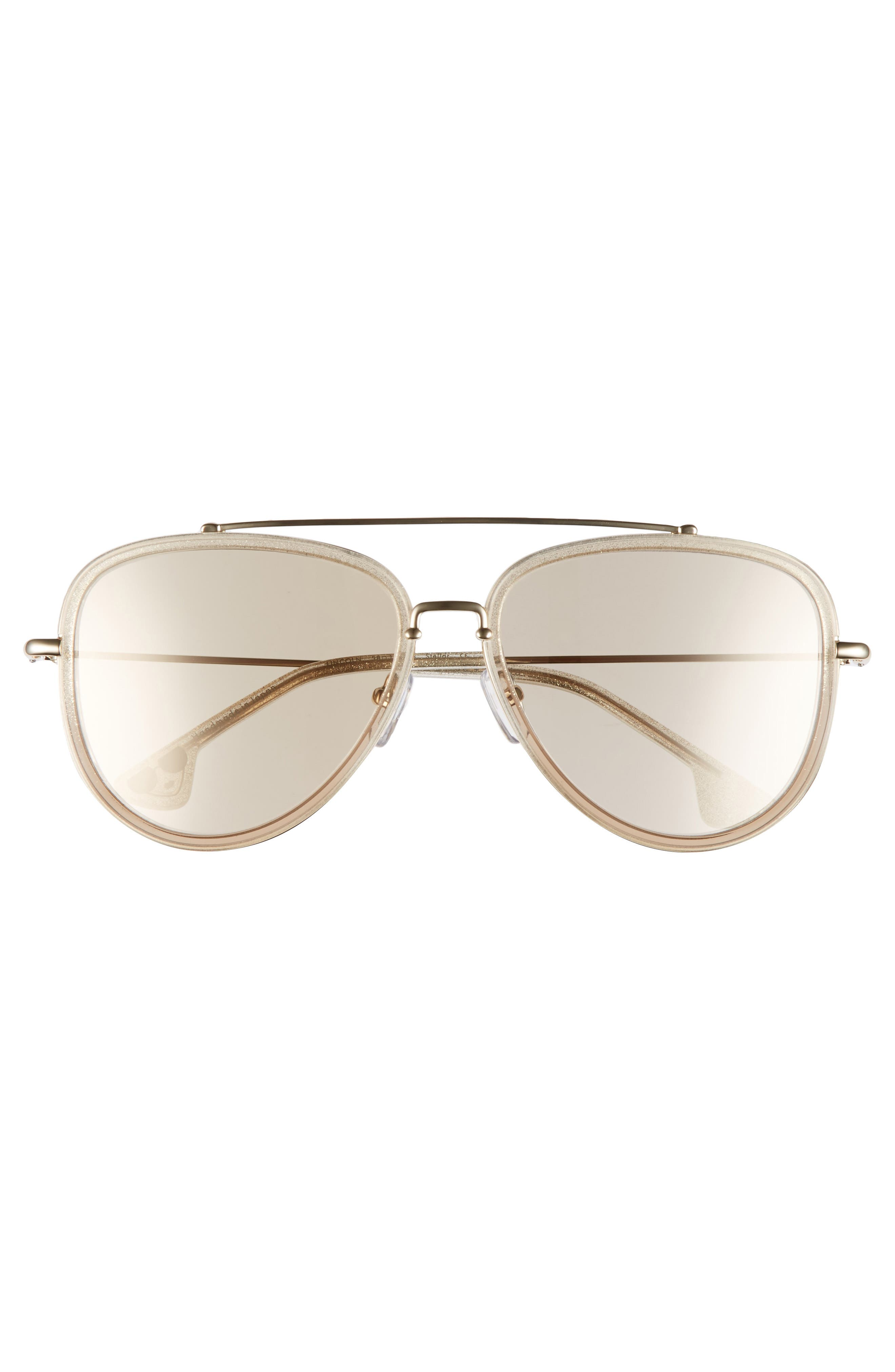 Lincoln 58mm Aviator Sunglasses,                             Alternate thumbnail 12, color,