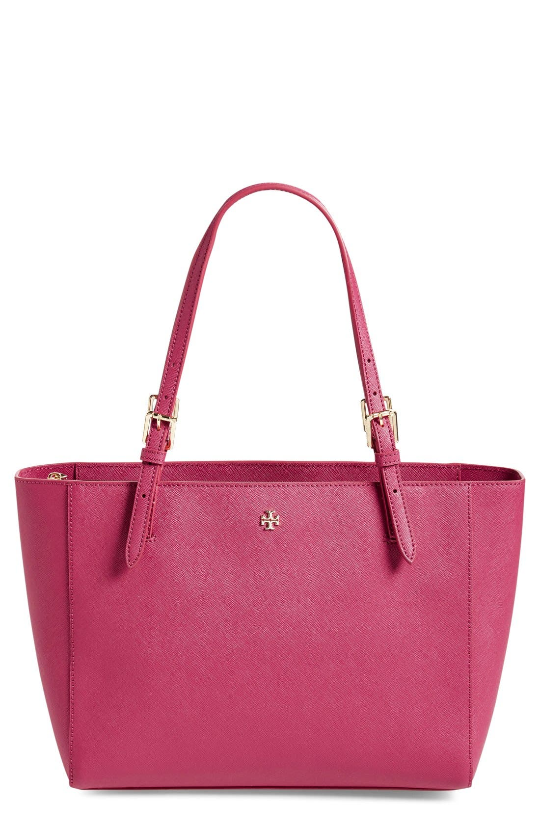 'Small York' Saffiano Leather Buckle Tote,                             Main thumbnail 14, color,