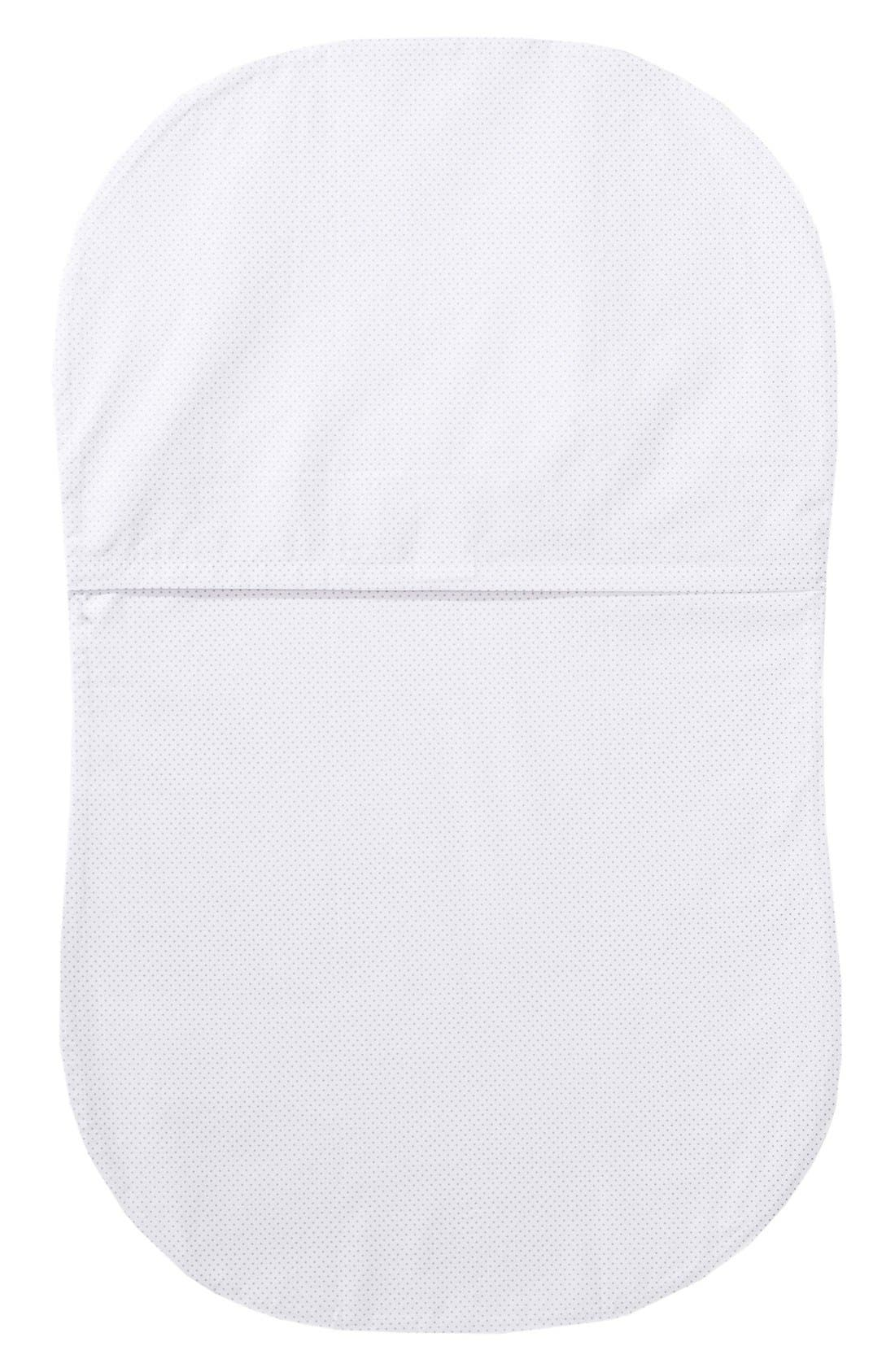 Cotton Fitted Sheet for Halo<sup>®</sup> Bassinest<sup>™</sup> Swivel Sleeper,                             Alternate thumbnail 2, color,                             GREY PIN DOT