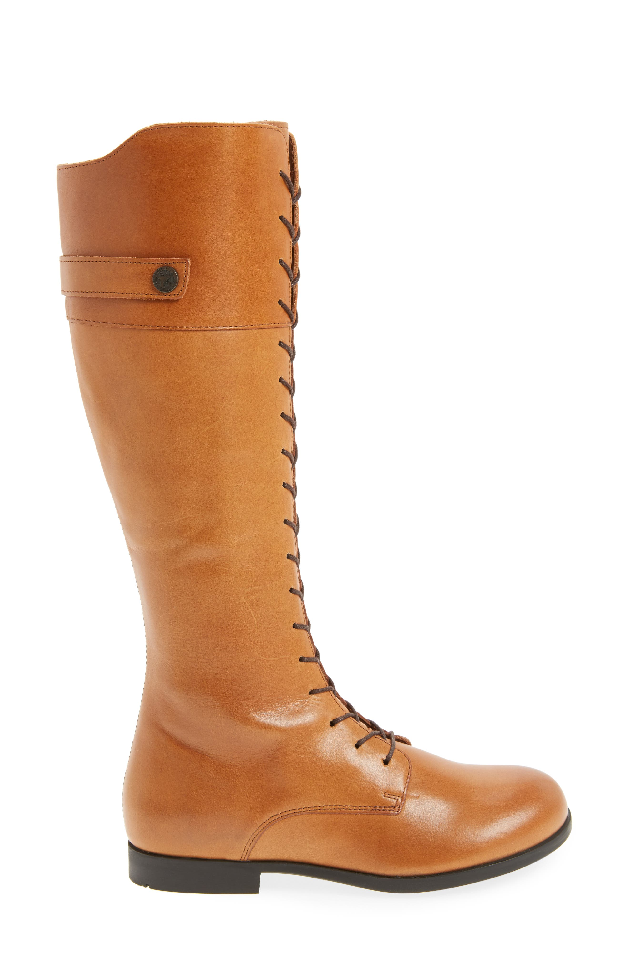 Longford Knee-High Lace-Up Boot,                             Alternate thumbnail 3, color,                             200