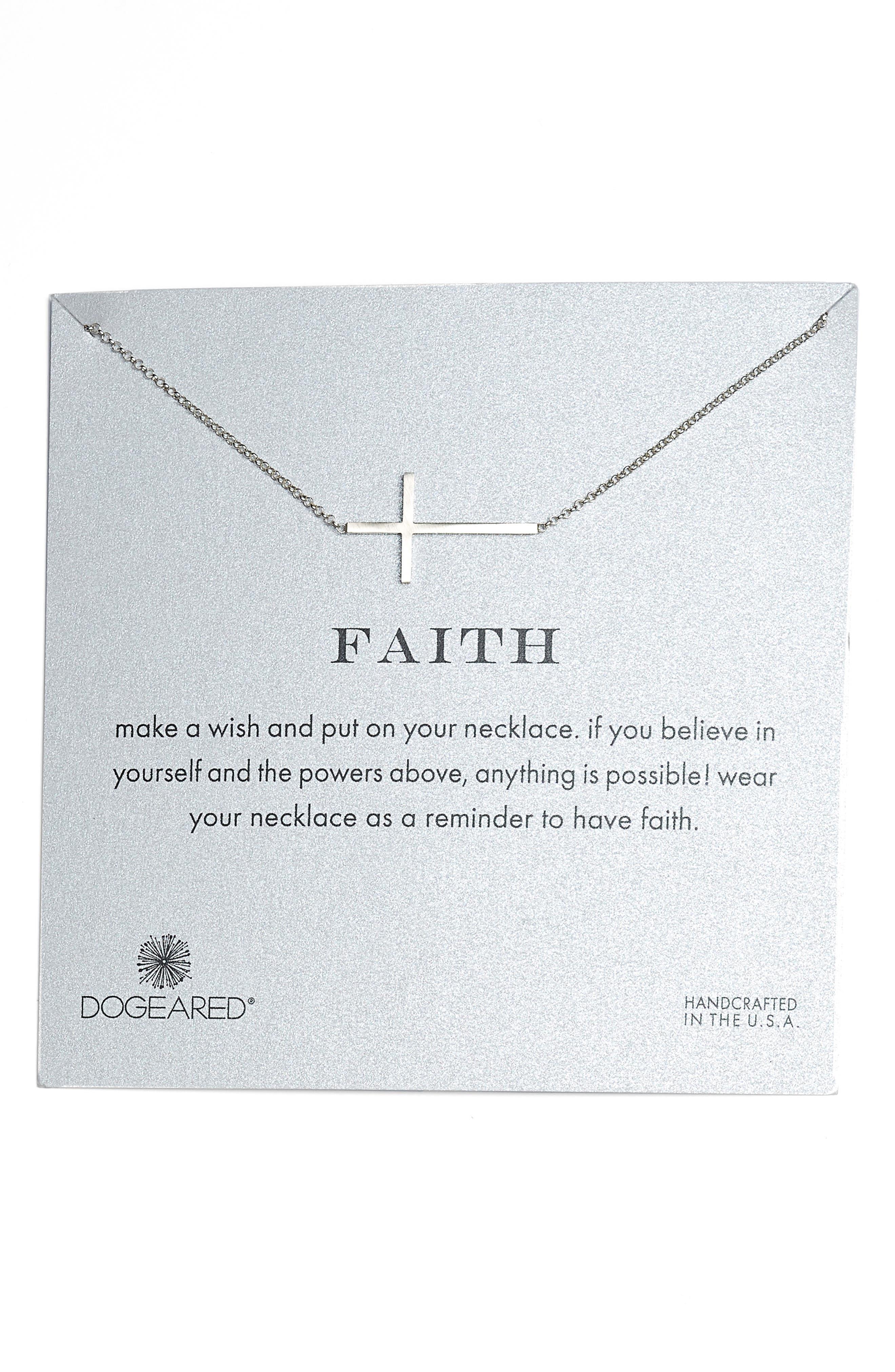 Faith Necklace,                             Main thumbnail 1, color,