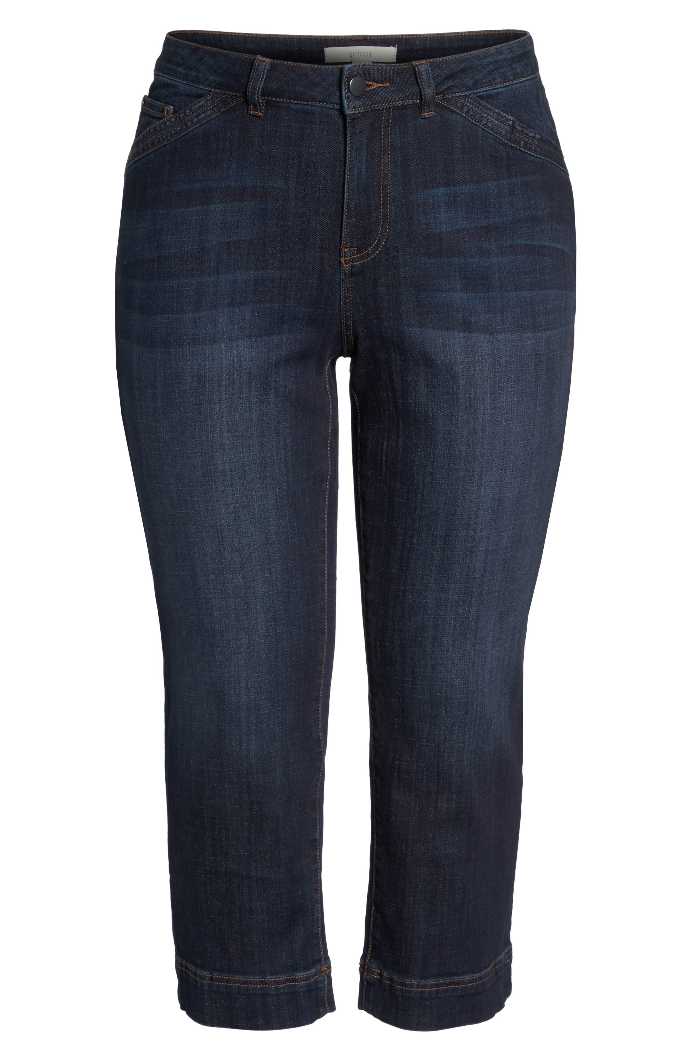 Wide Leg Crop Jeans,                             Alternate thumbnail 11, color,