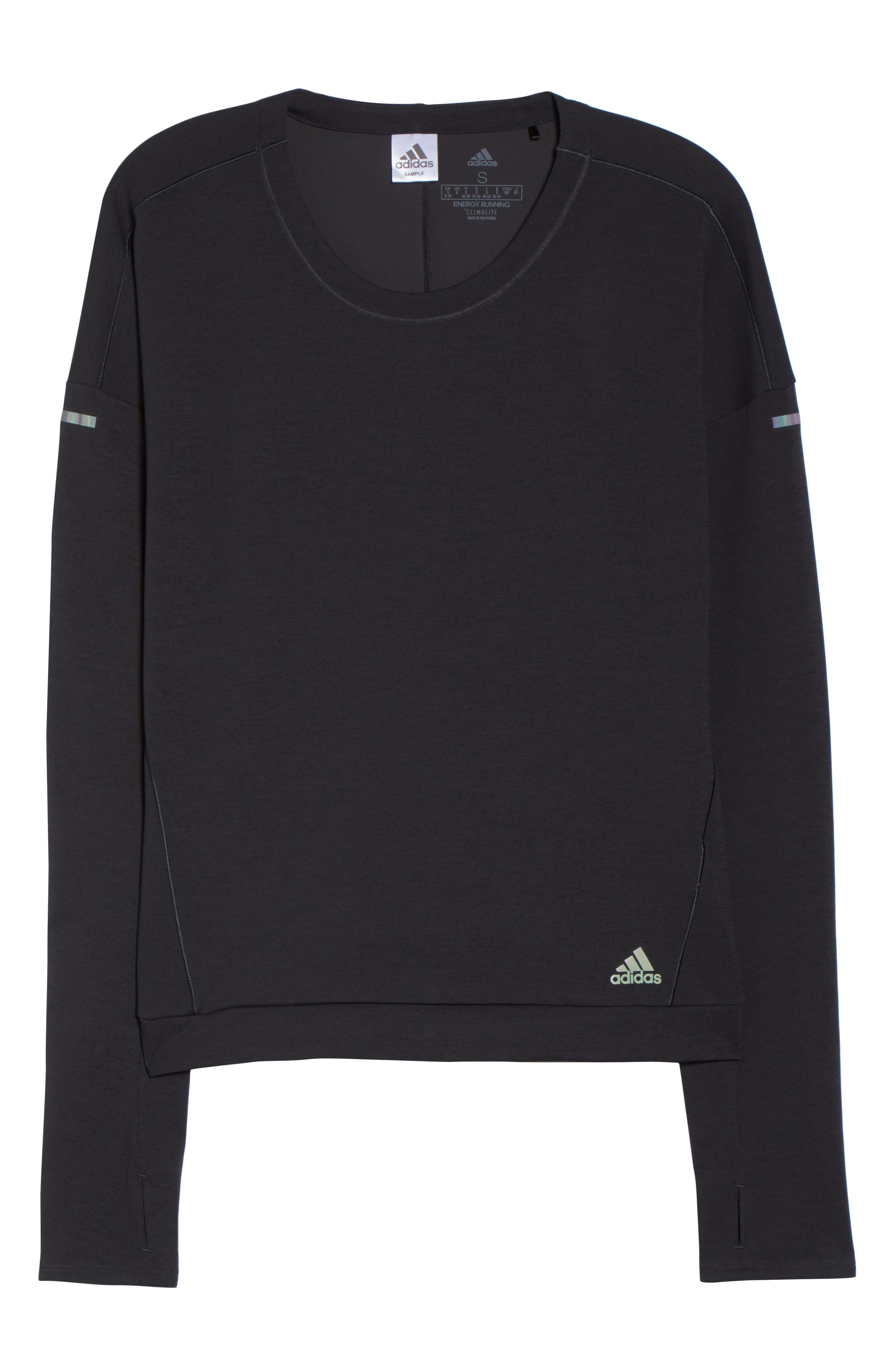 Supernova Run Sweatshirt,                             Alternate thumbnail 7, color,                             BLACK/ COLORED HEATHER