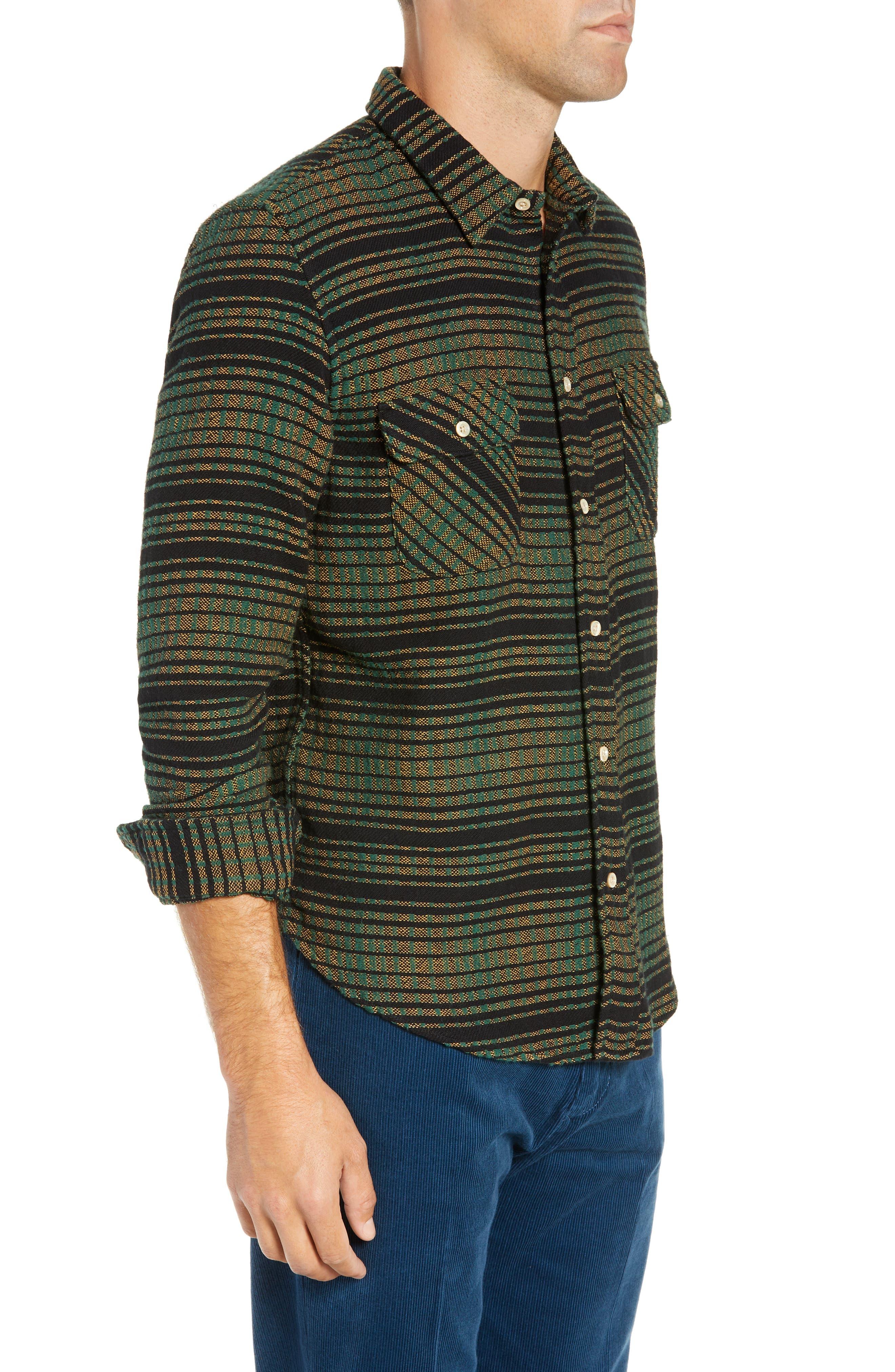 LEVI'S<SUP>®</SUP> VINTAGE CLOTHING,                             Shorthorn Slim Fit Sport Shirt,                             Alternate thumbnail 4, color,                             300