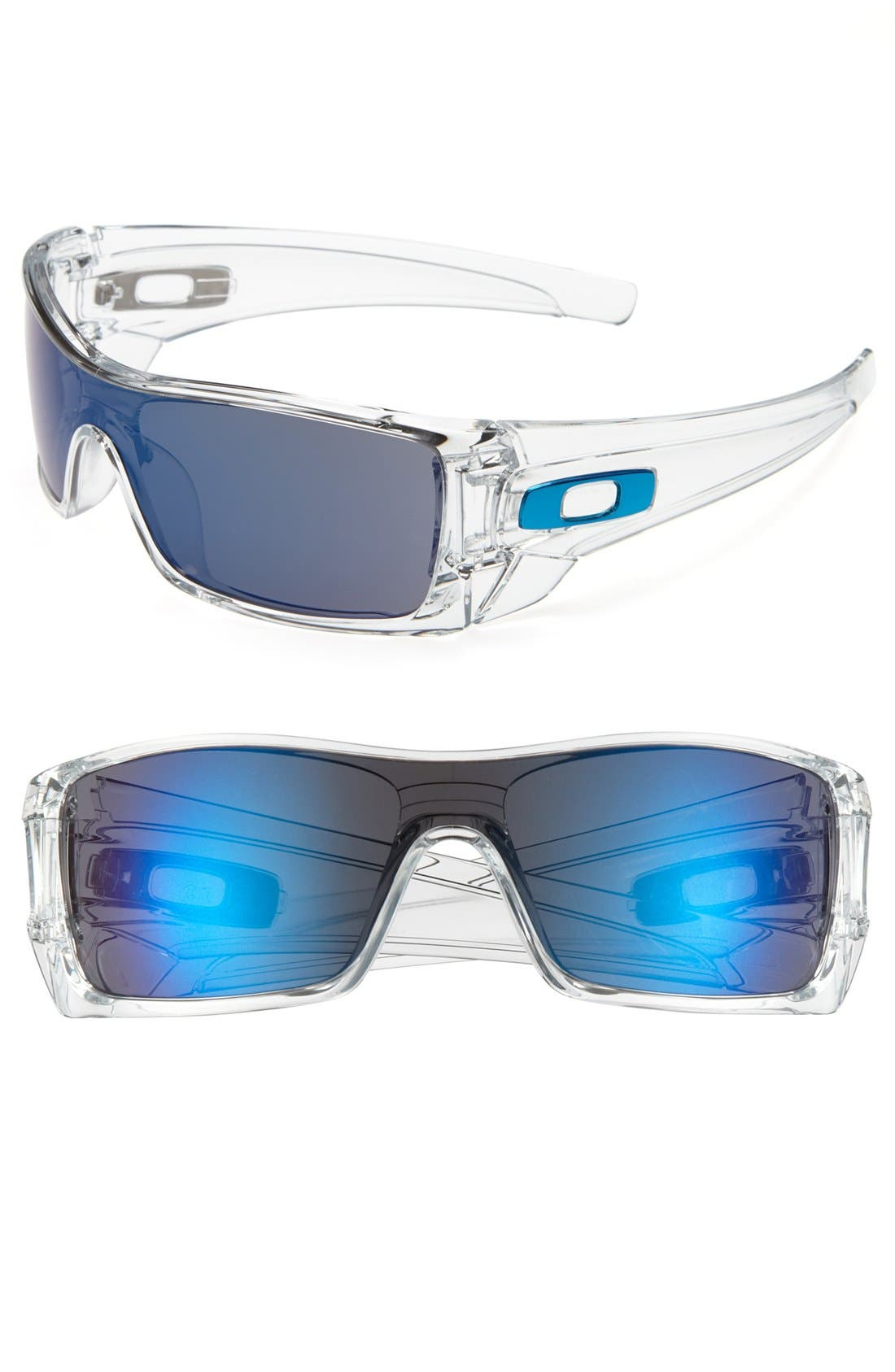 'Batwolf' Sunglasses,                         Main,                         color, CLEAR