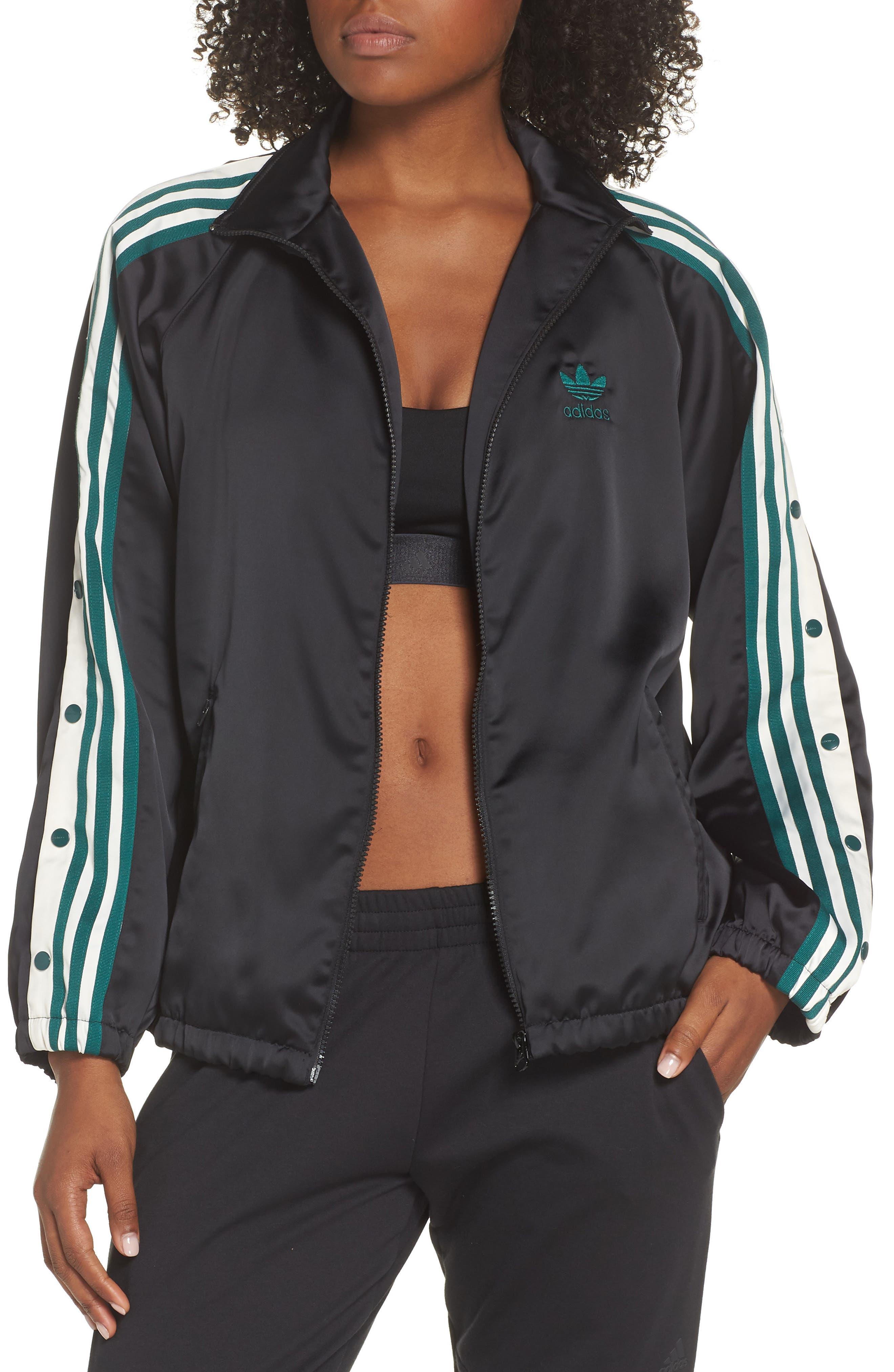 Adibreak Track Jacket,                             Main thumbnail 1, color,                             BLACK