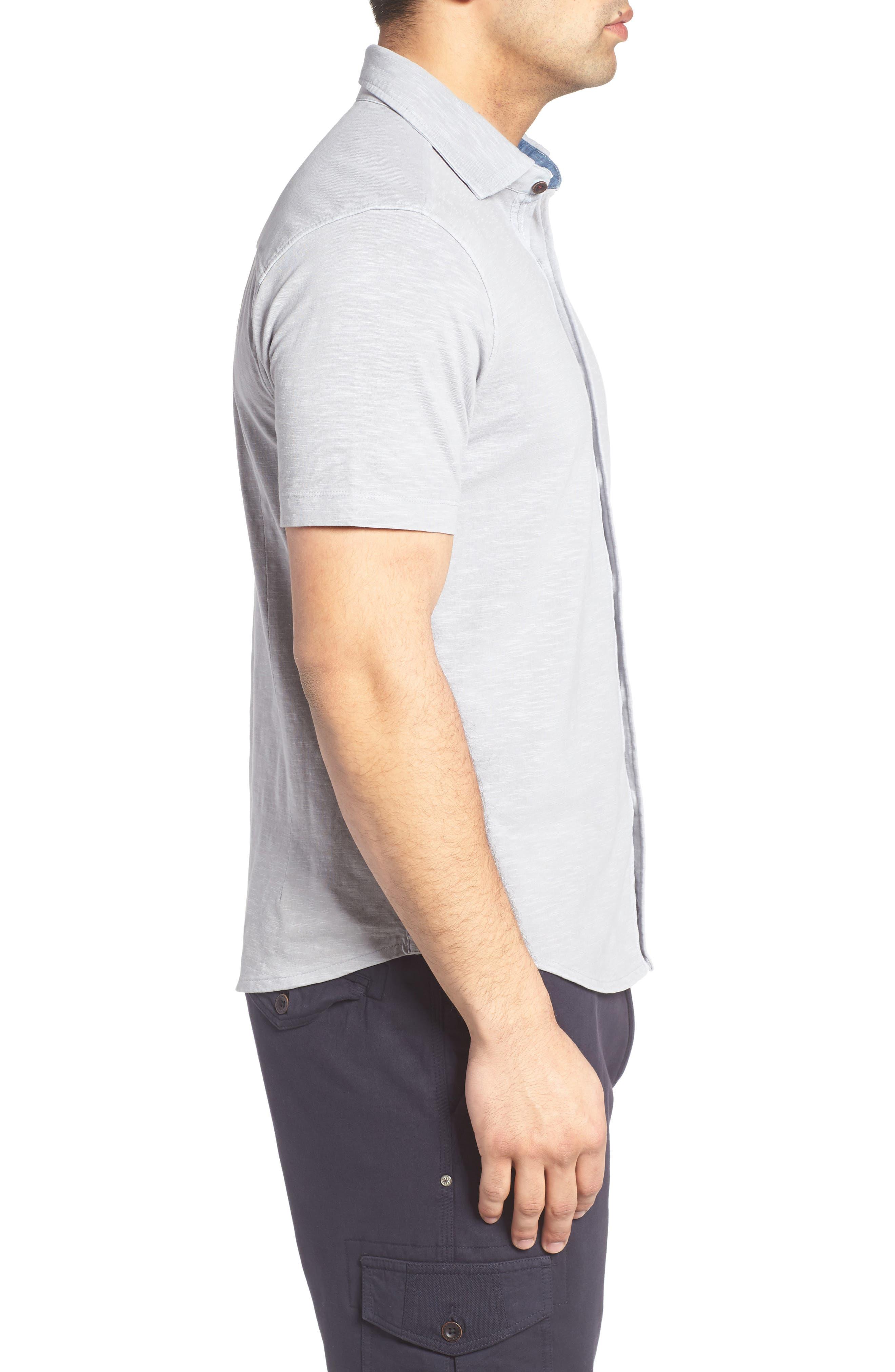 McAdams Slub Jersey Sport Shirt,                             Alternate thumbnail 3, color,                             020