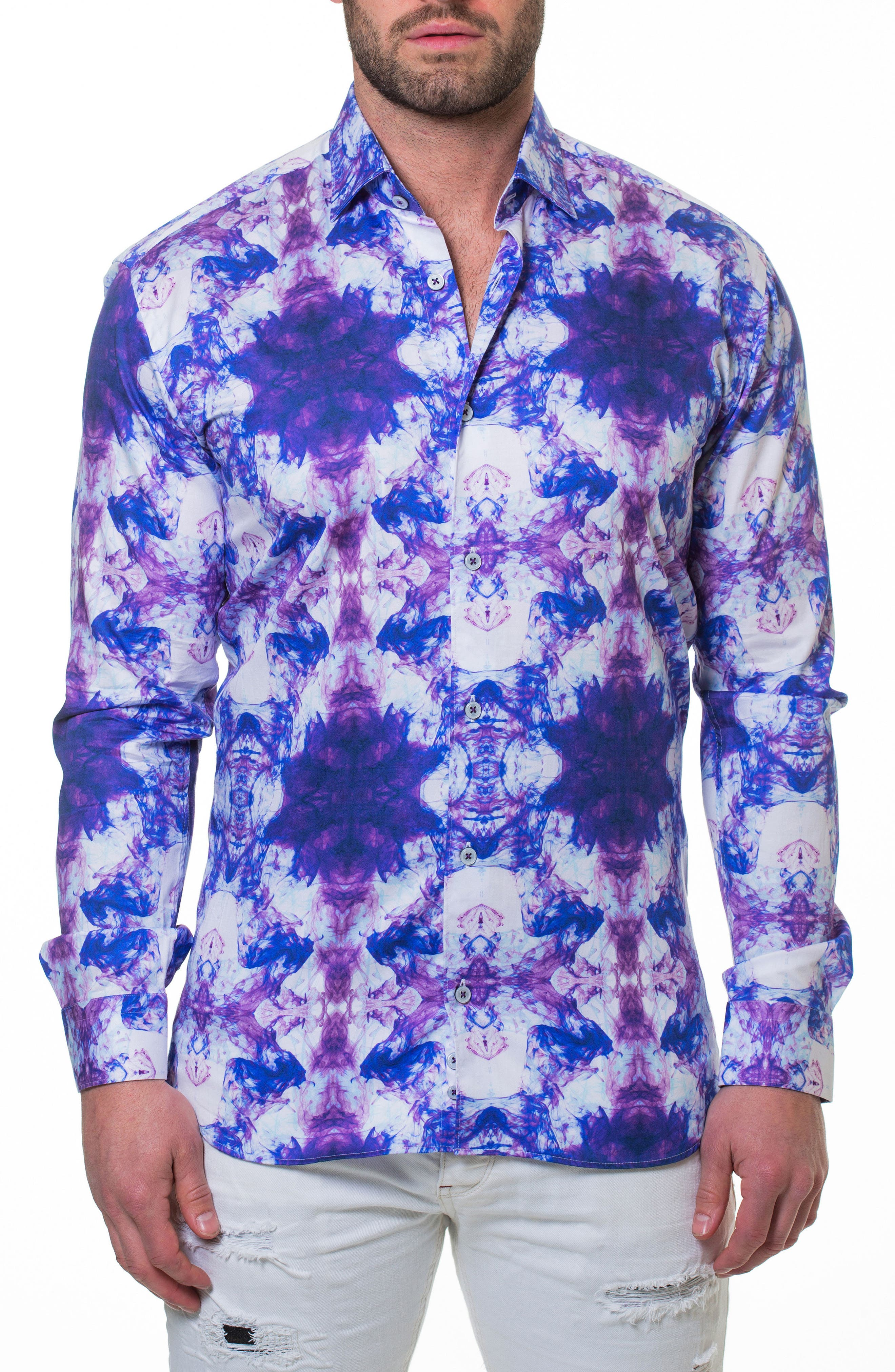 Luxor Smoky Slim Fit Sport Shirt,                         Main,                         color, PURPLE