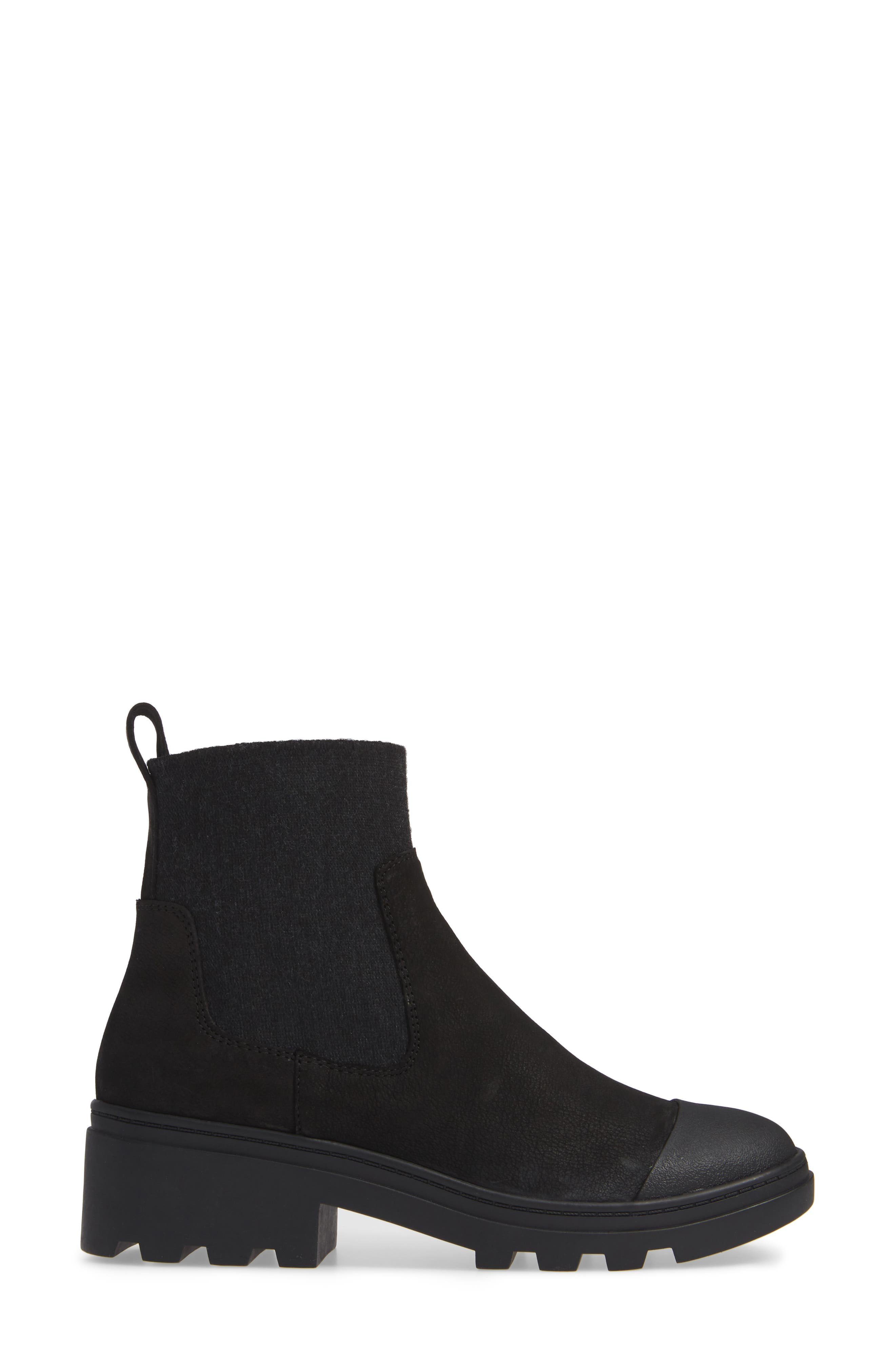 EILEEN FISHER,                             Teddy Bootie,                             Alternate thumbnail 3, color,                             001