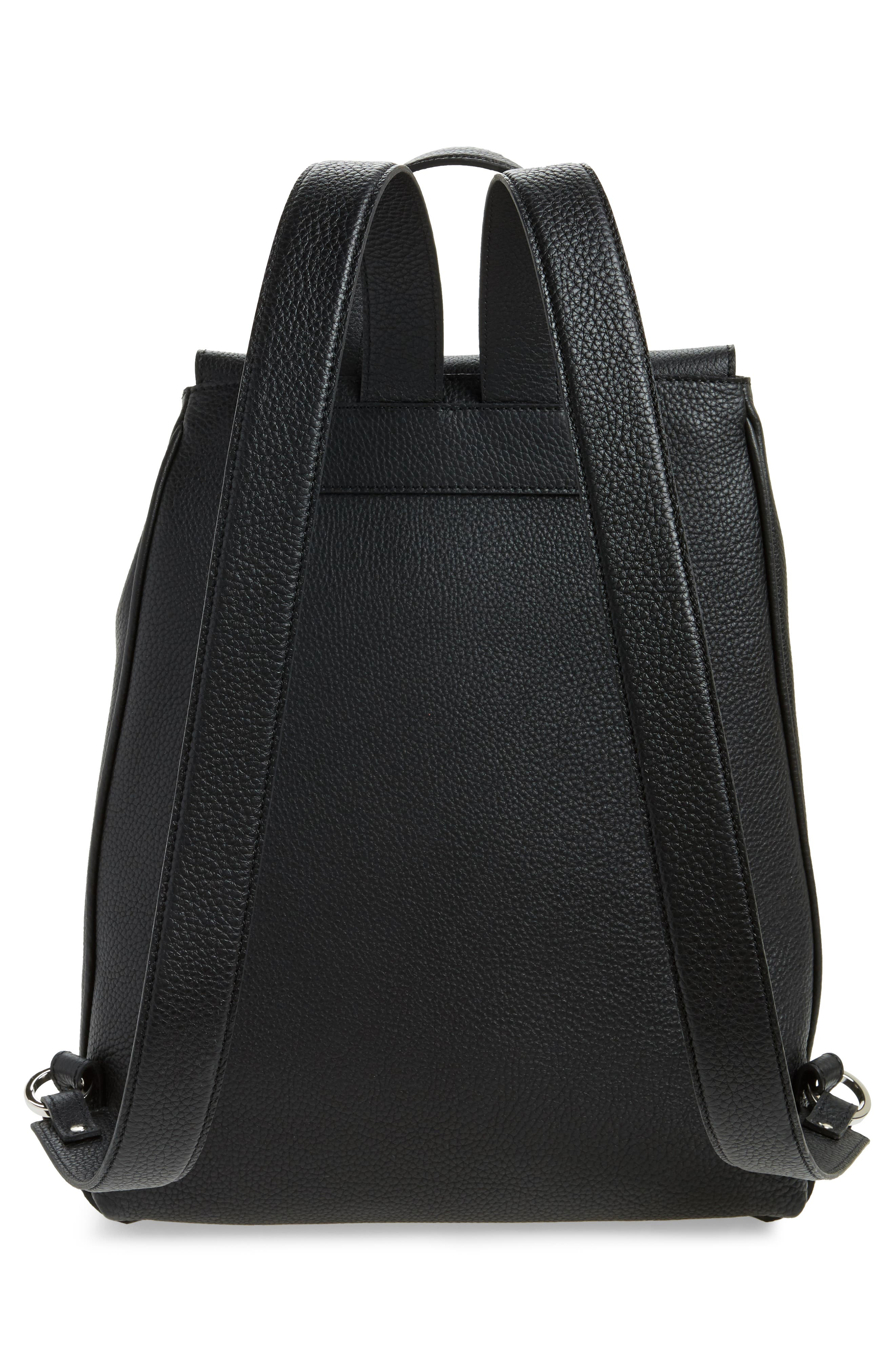 Carmen Cachemire Leather Backpack,                             Alternate thumbnail 3, color,                             001