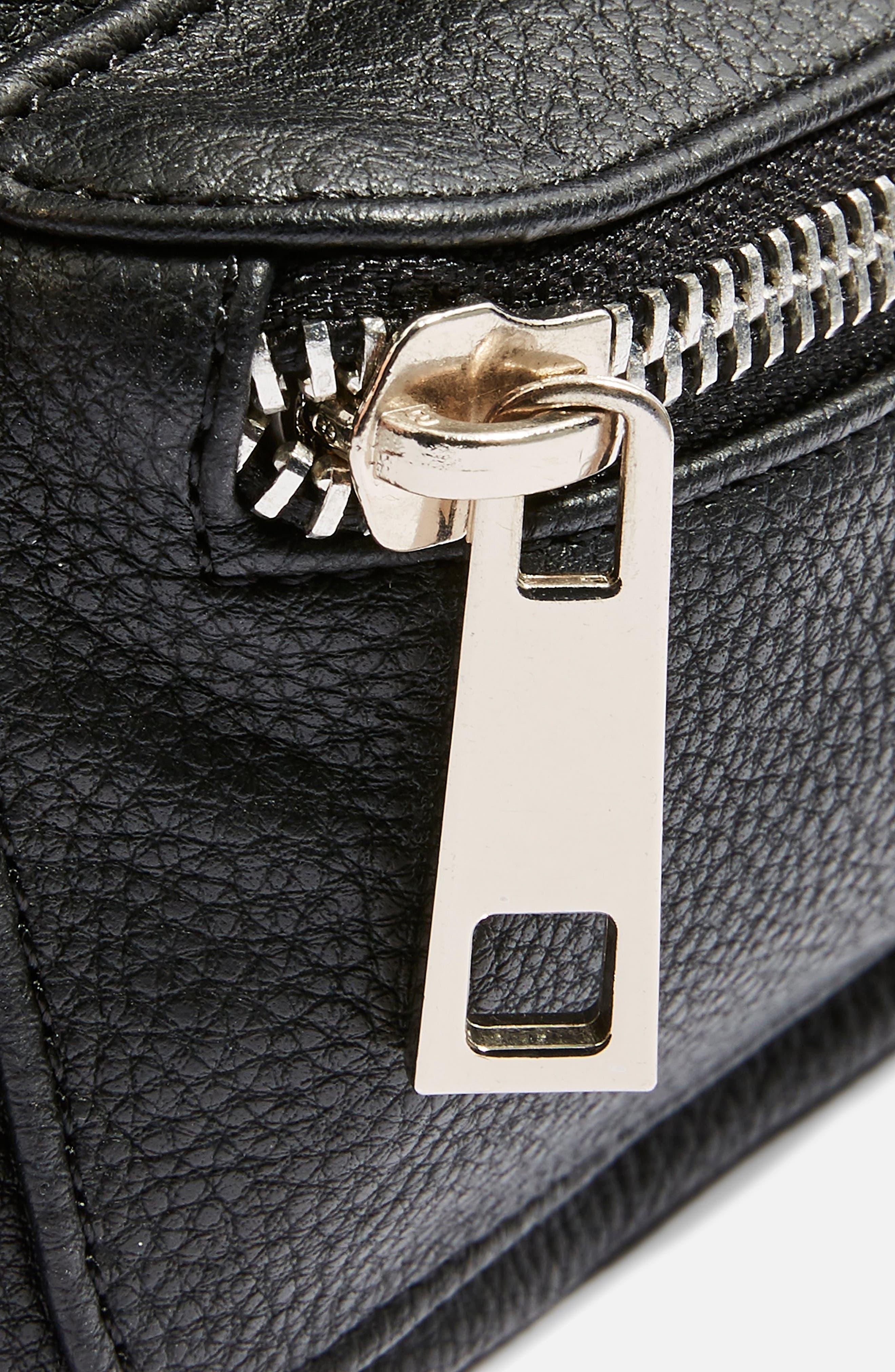 Branden Chain Belt Bag,                             Alternate thumbnail 3, color,                             BLACK