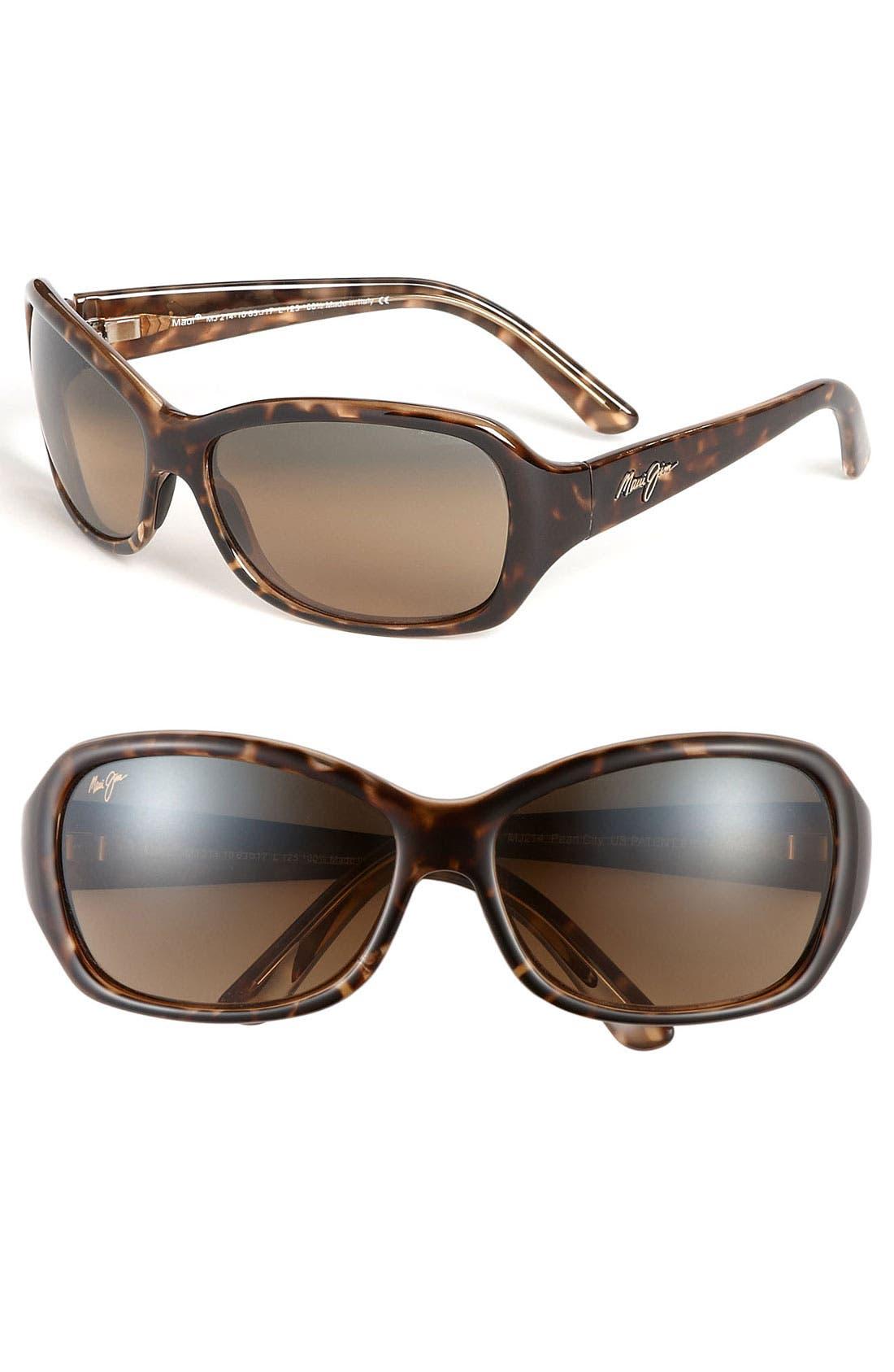 Pearl City 63mm PolarizedPlus2<sup>®</sup> Sunglasses,                         Main,                         color, TORTOISE